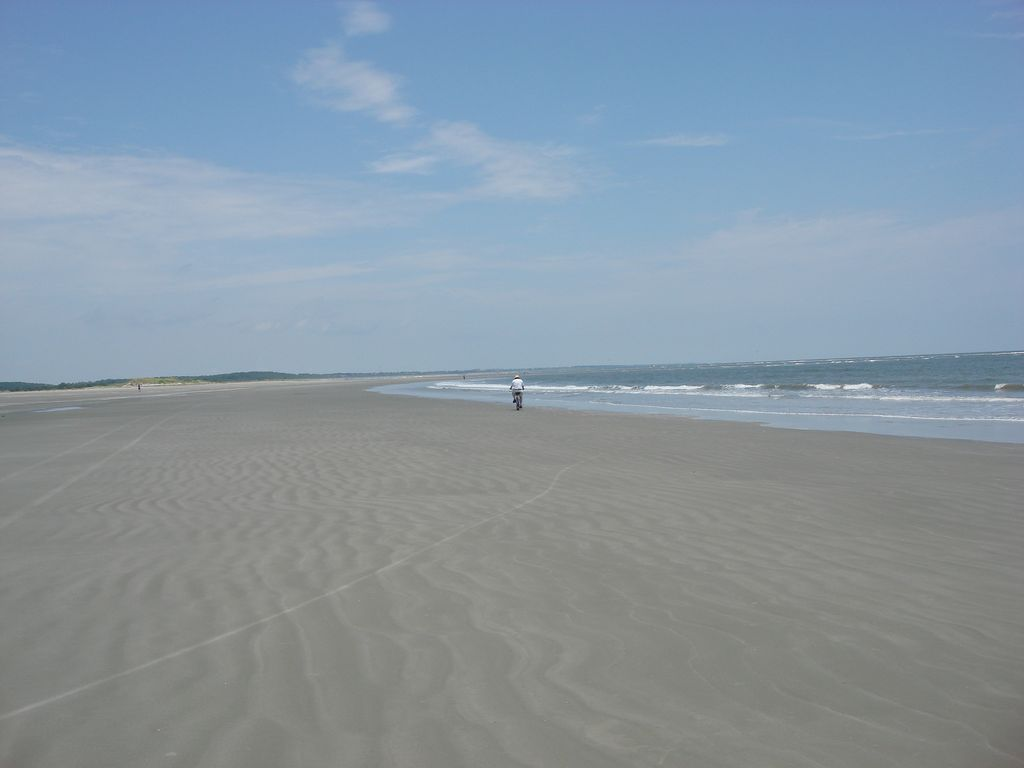 """Biking the beach is a """"must-do"""" while on Seabrook."""