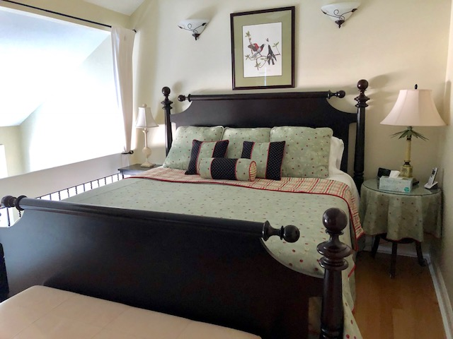 Enjoy a wonderful nights sleep in this comfortable, king size bed.