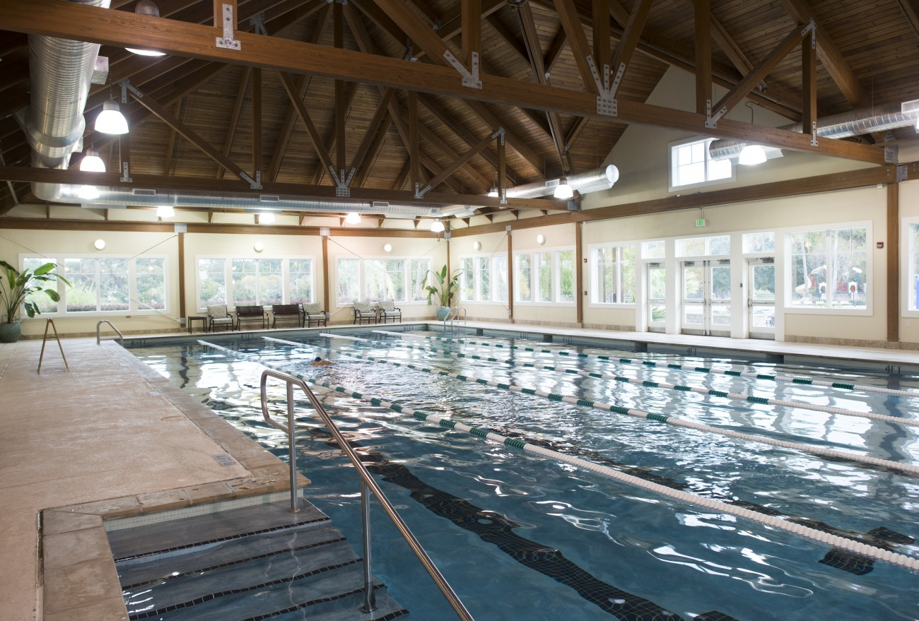 5-lane, 25-yard indoor fitness pool that is temperature regulated year-round