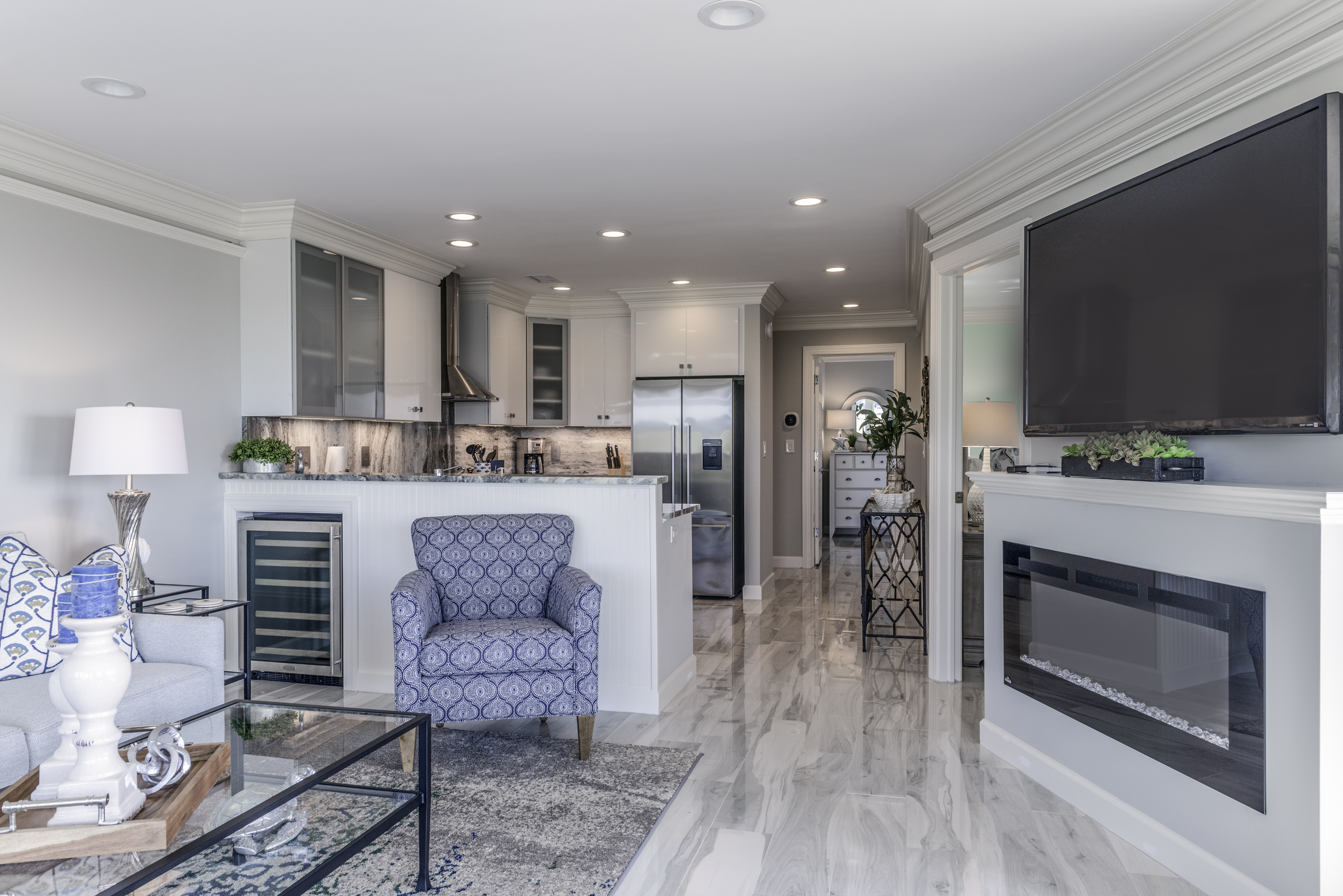 Bright open floor plan. Newly remodeled.