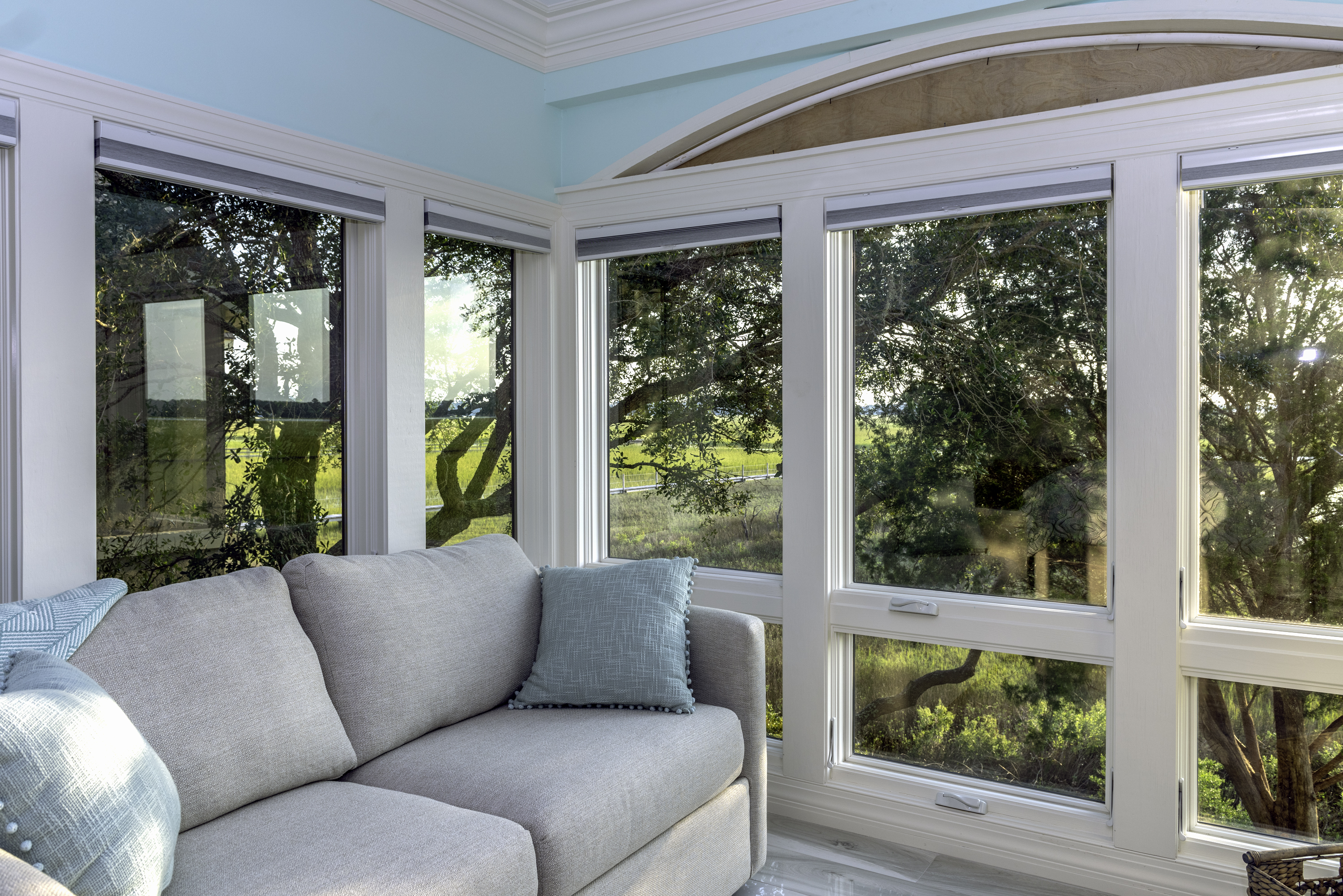 Comfortable sitting area with Marsh Views