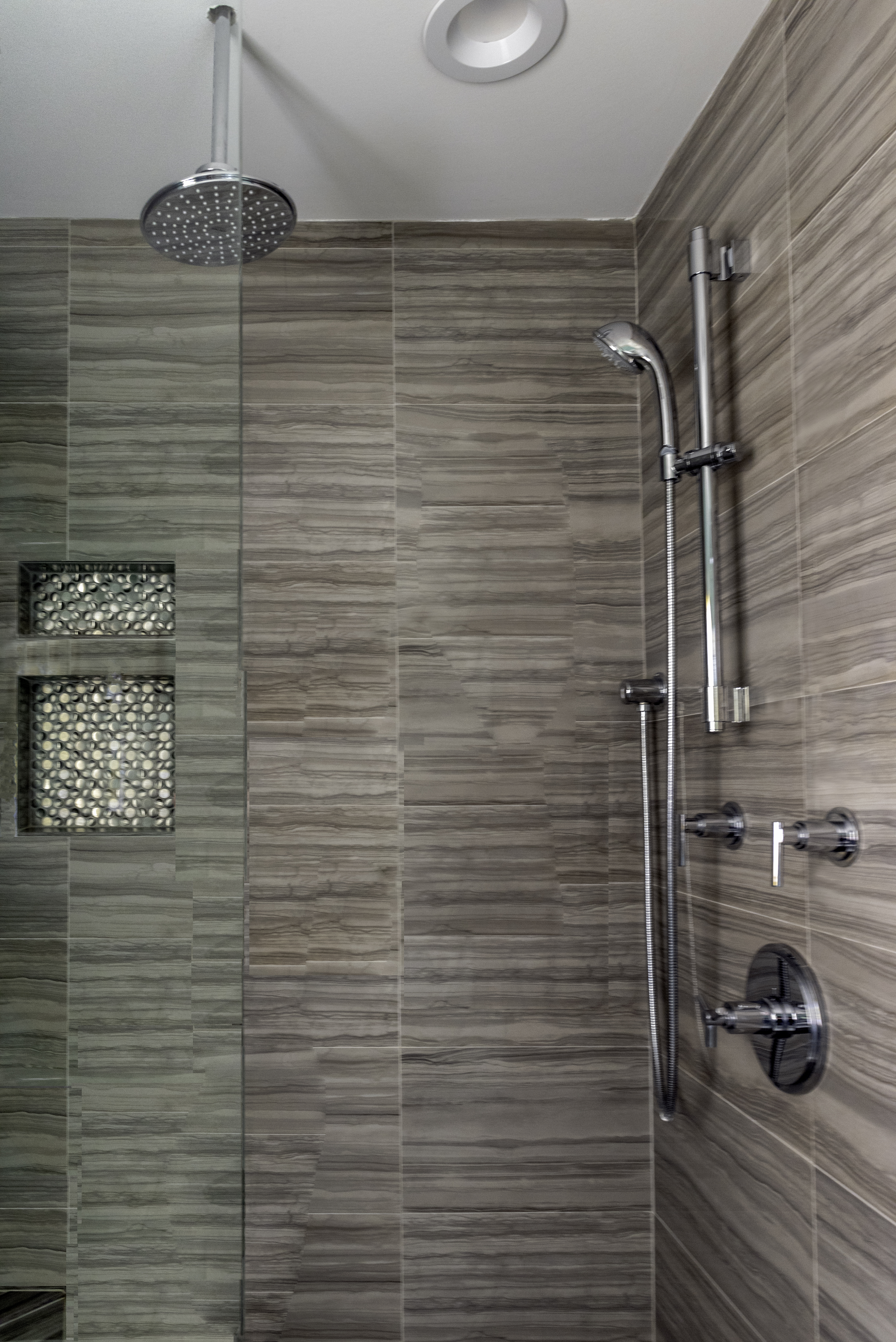 Large updated Master Shower with 2nd Rain Shower head
