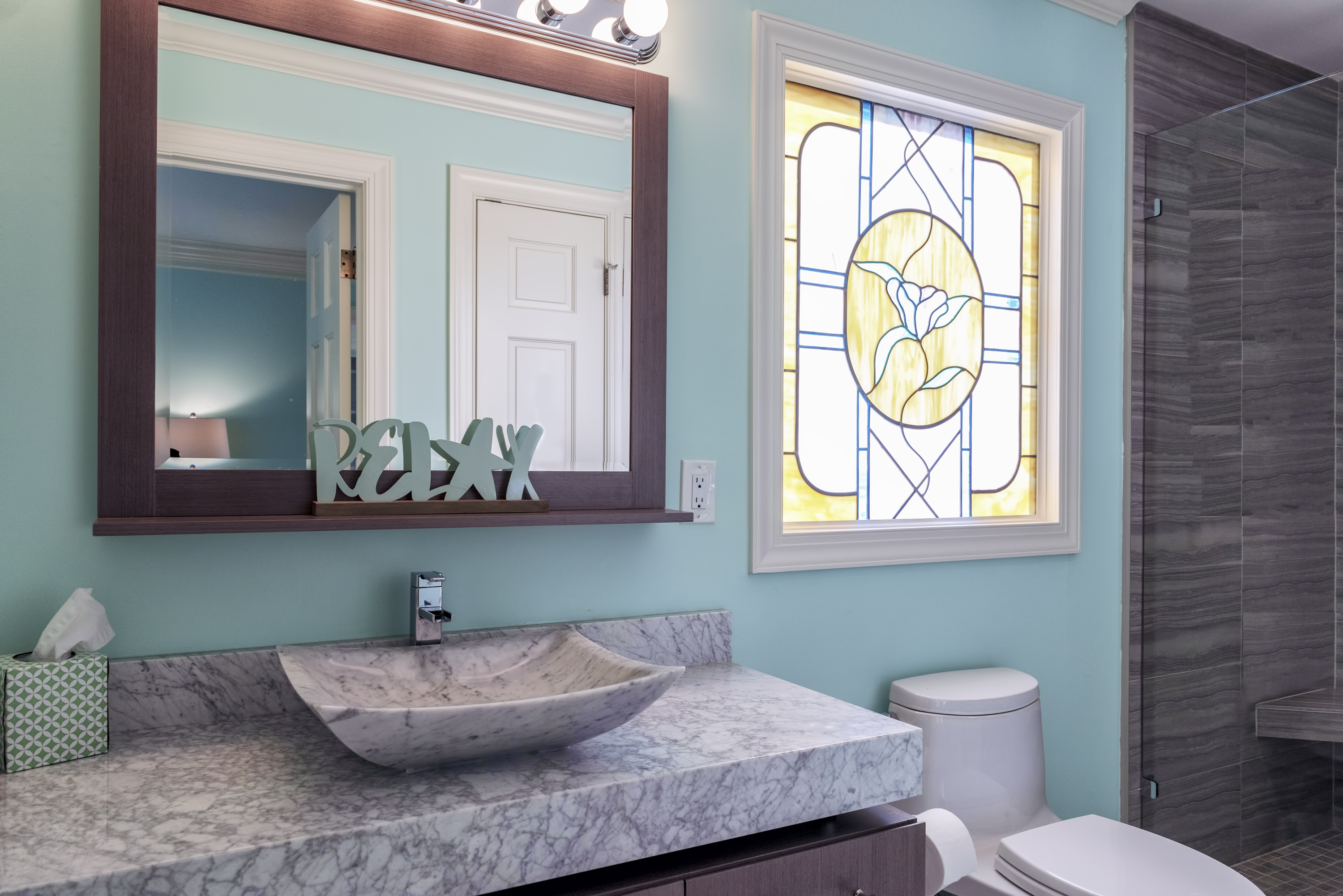 Master Bath with high-end updates.