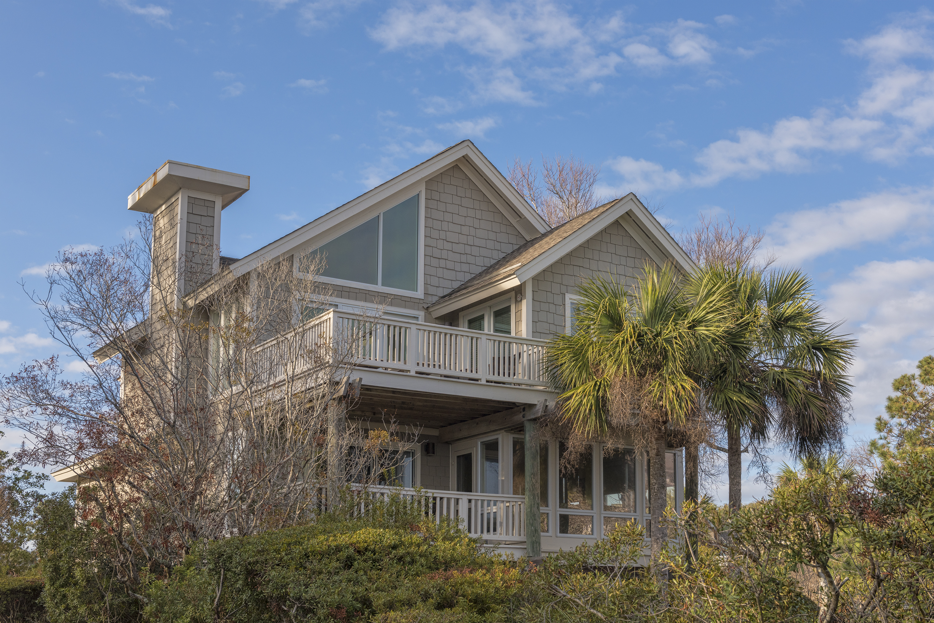 Enjoy the lower deck and upper deck off the back of the house.
