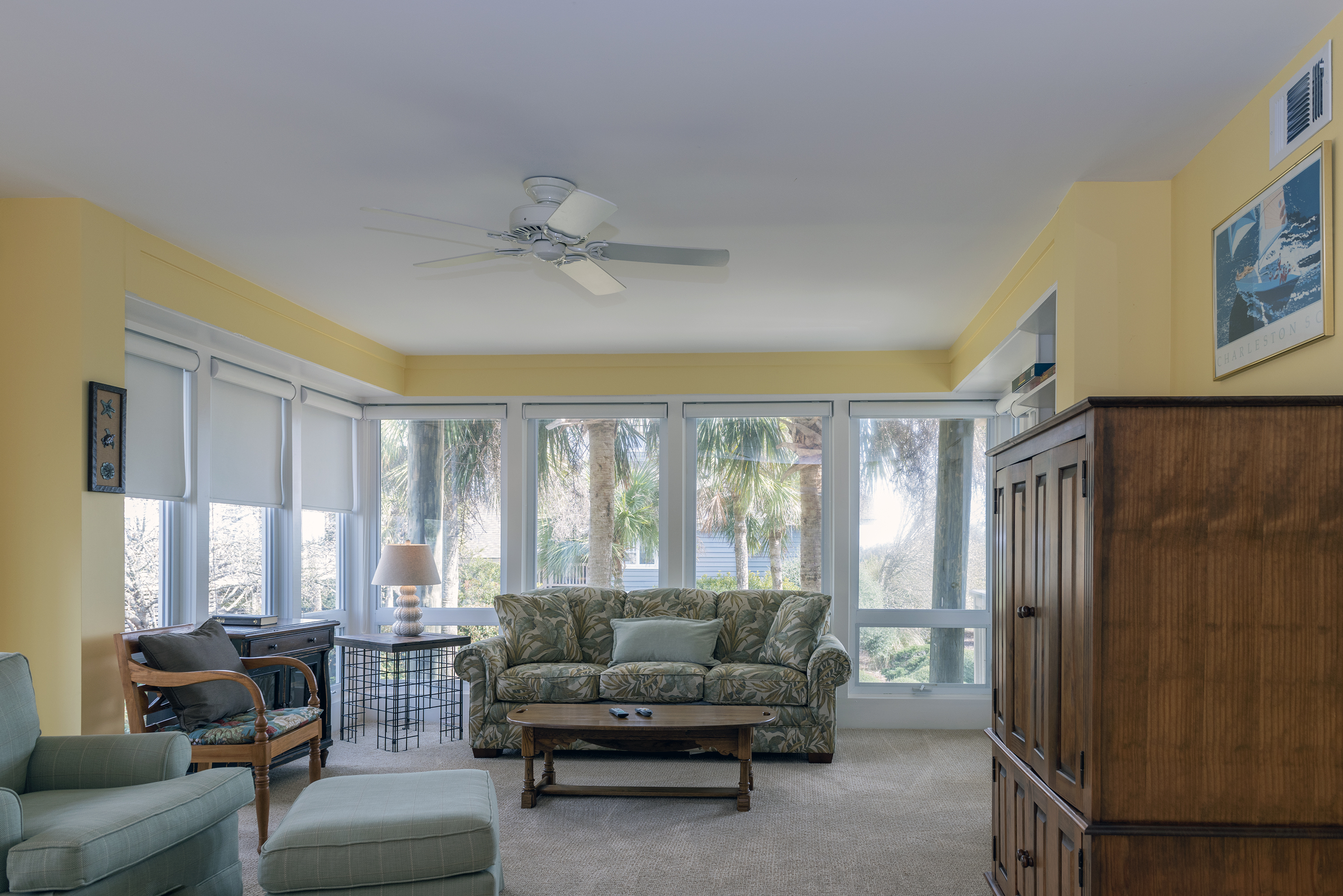 Head downstairs to the large family room! Door leads to the lower deck.