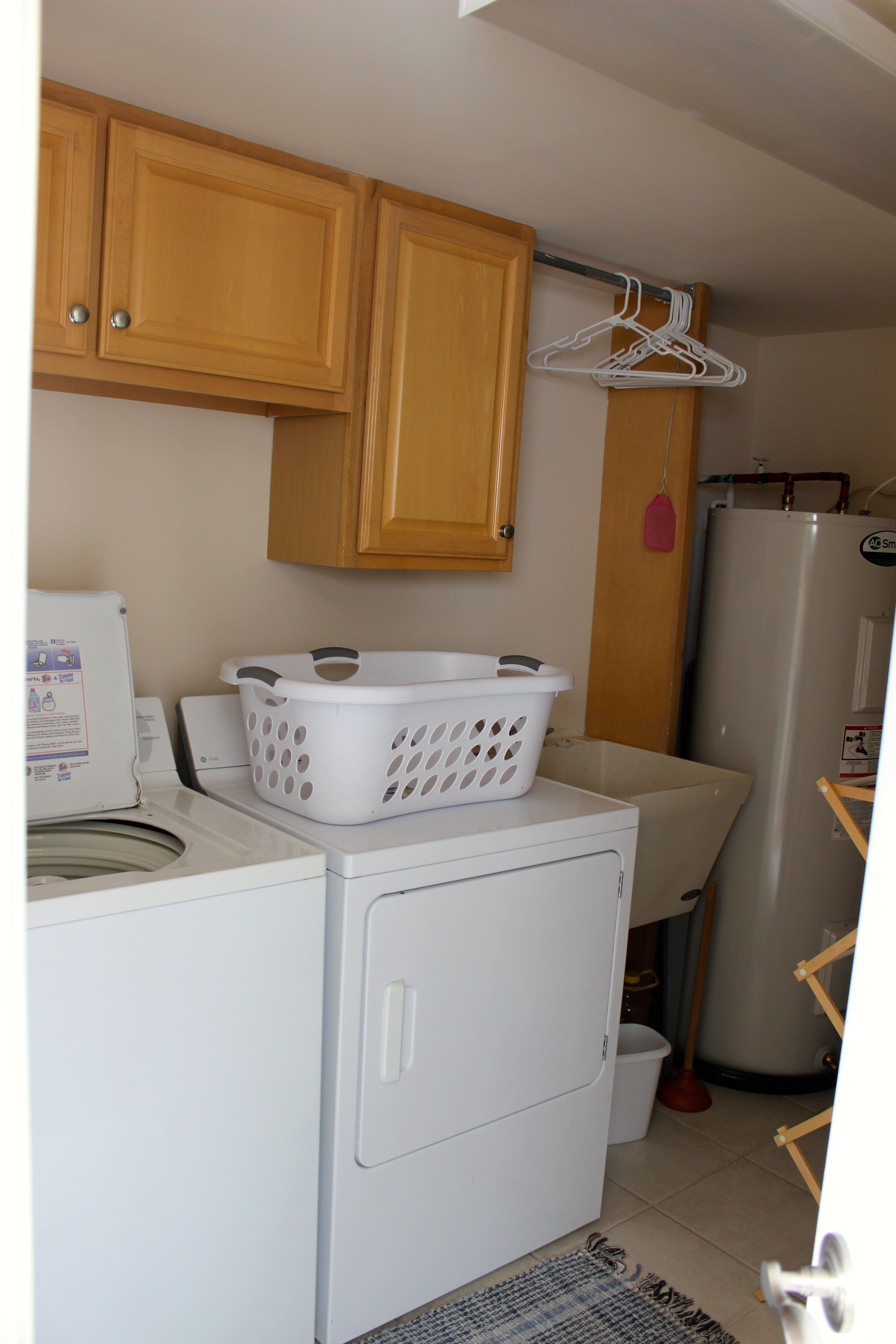 Also on the 1st floor is a large laundry room with a full sized washer and dryer.
