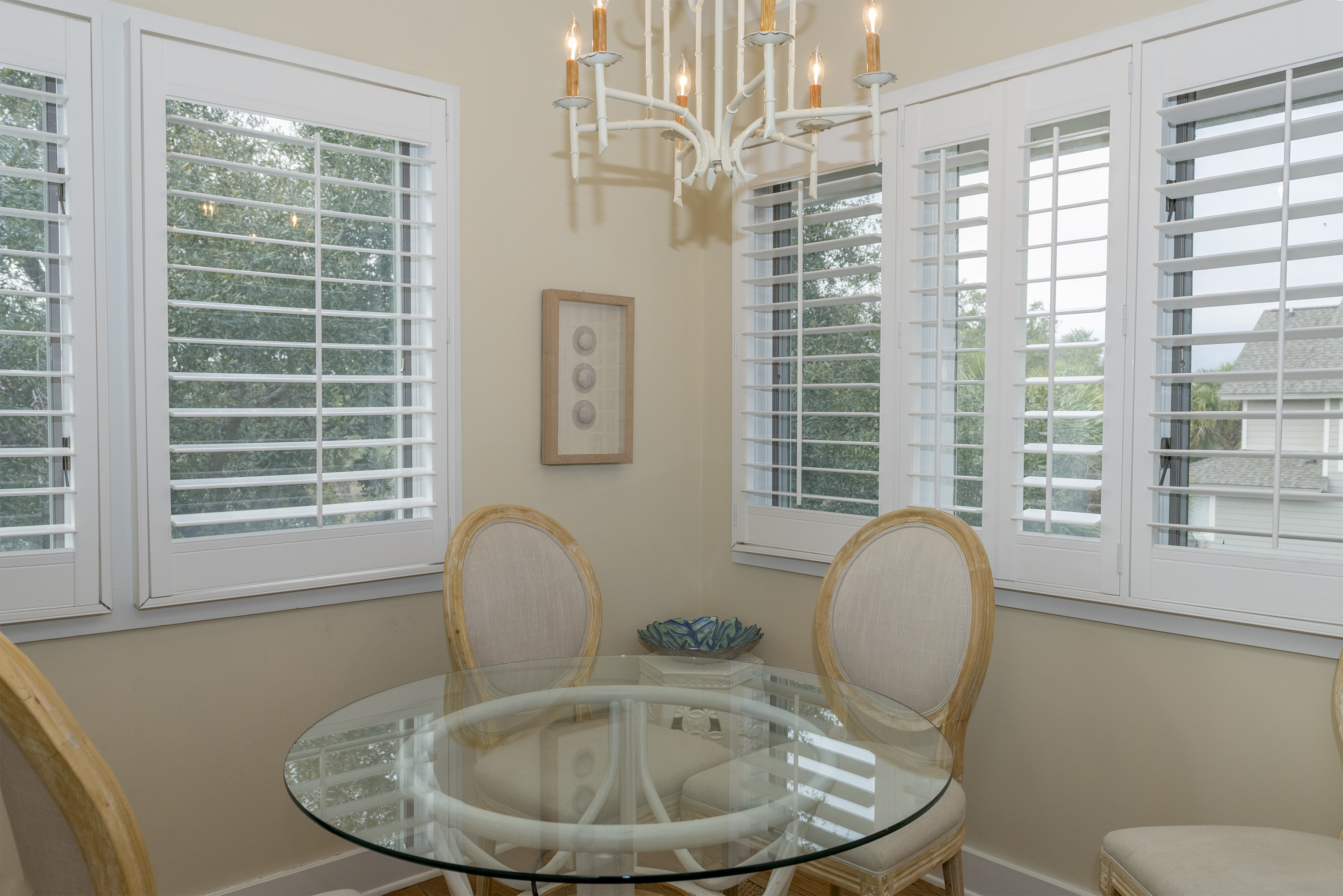 The breakfast nook in the kitchen seats 4 and windows provide plenty of natural light!