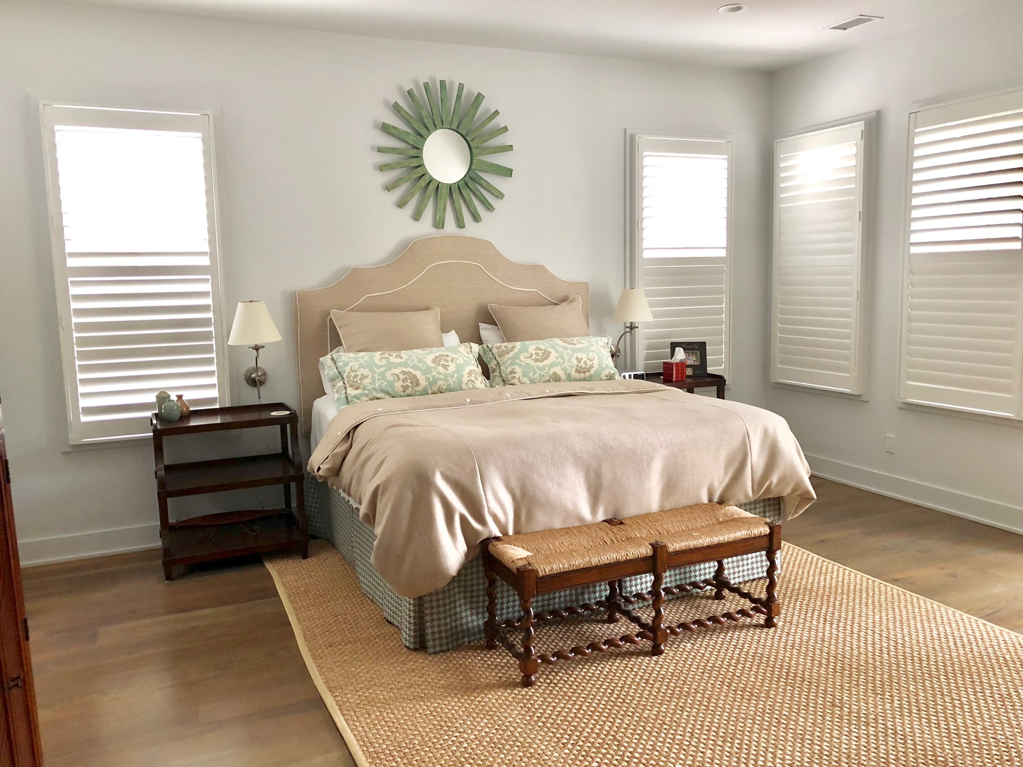 The 1st floor master has a king bed and large walk-in closet.