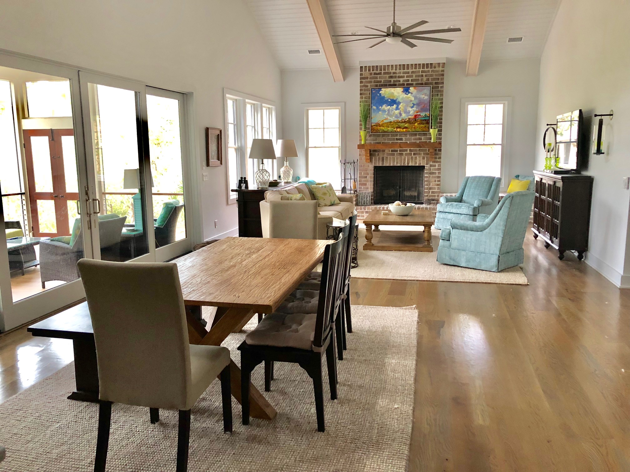 The dining room is anchored by the great room and kitchen, making it the perfect gathering spot.