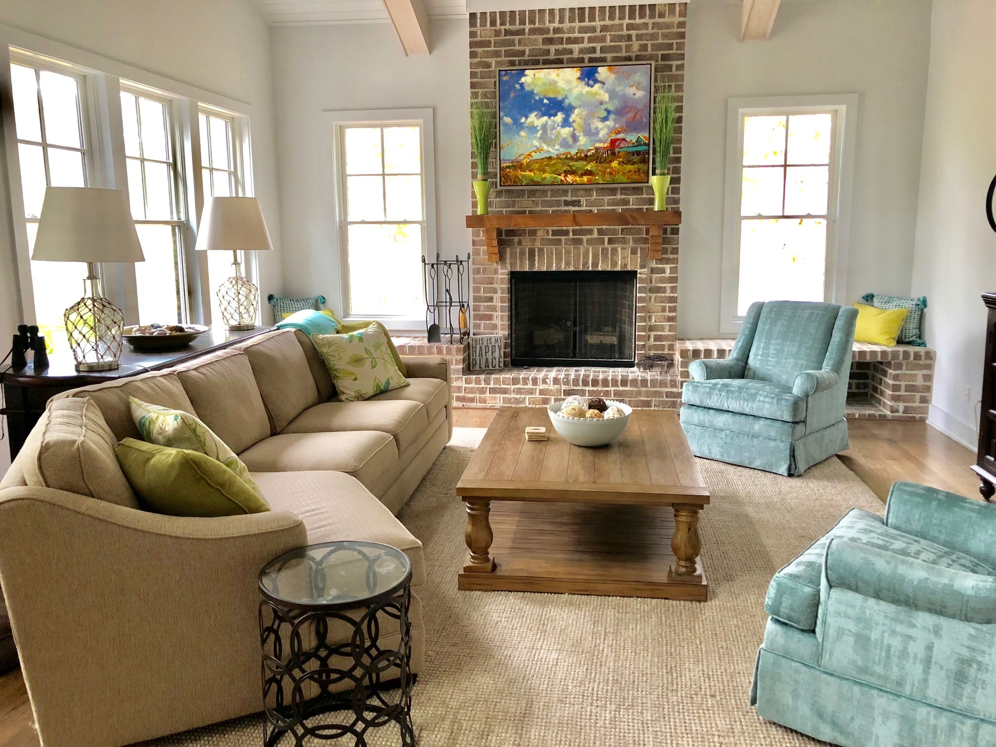 Inviting gathering spaces