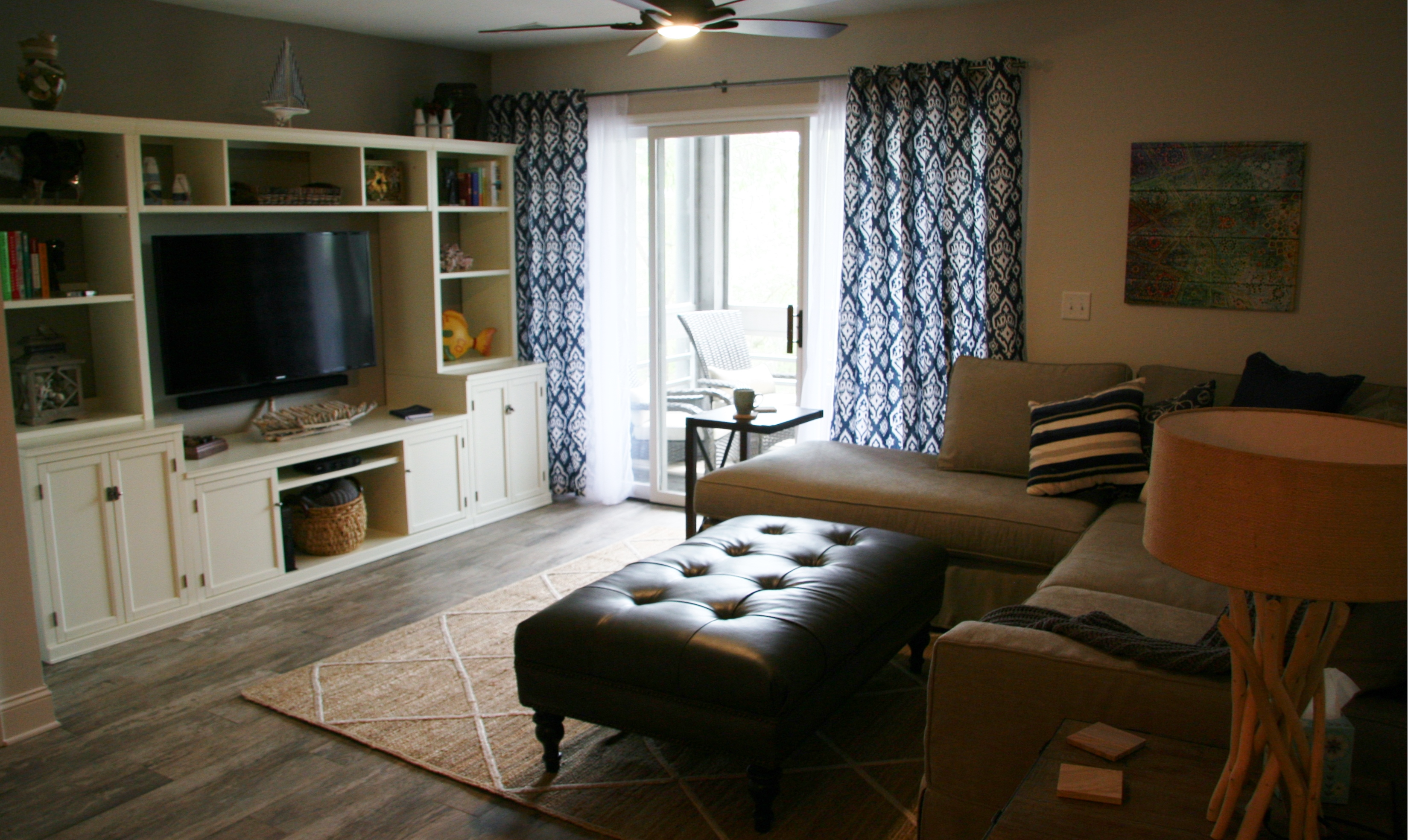 Living area is beautifully furnished too!