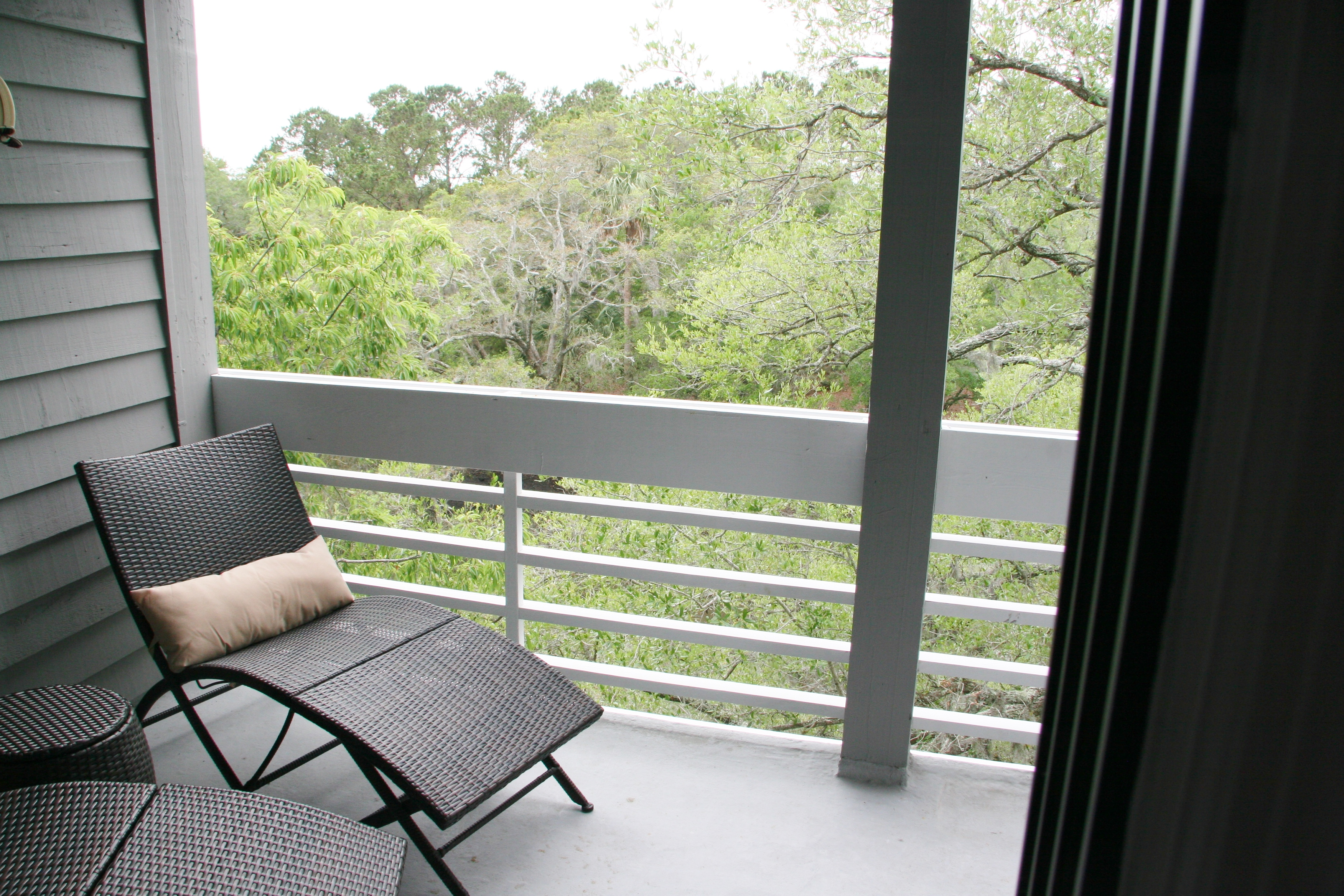 Relax with a book on the deck overlooking the marsh view.