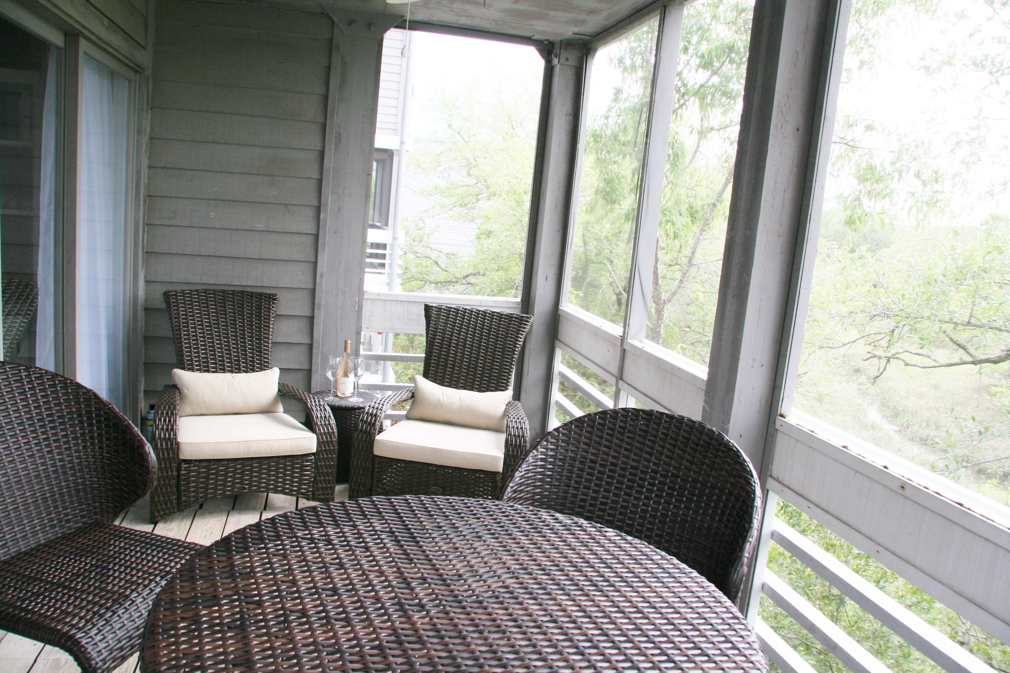 Screened Porch off the living room.