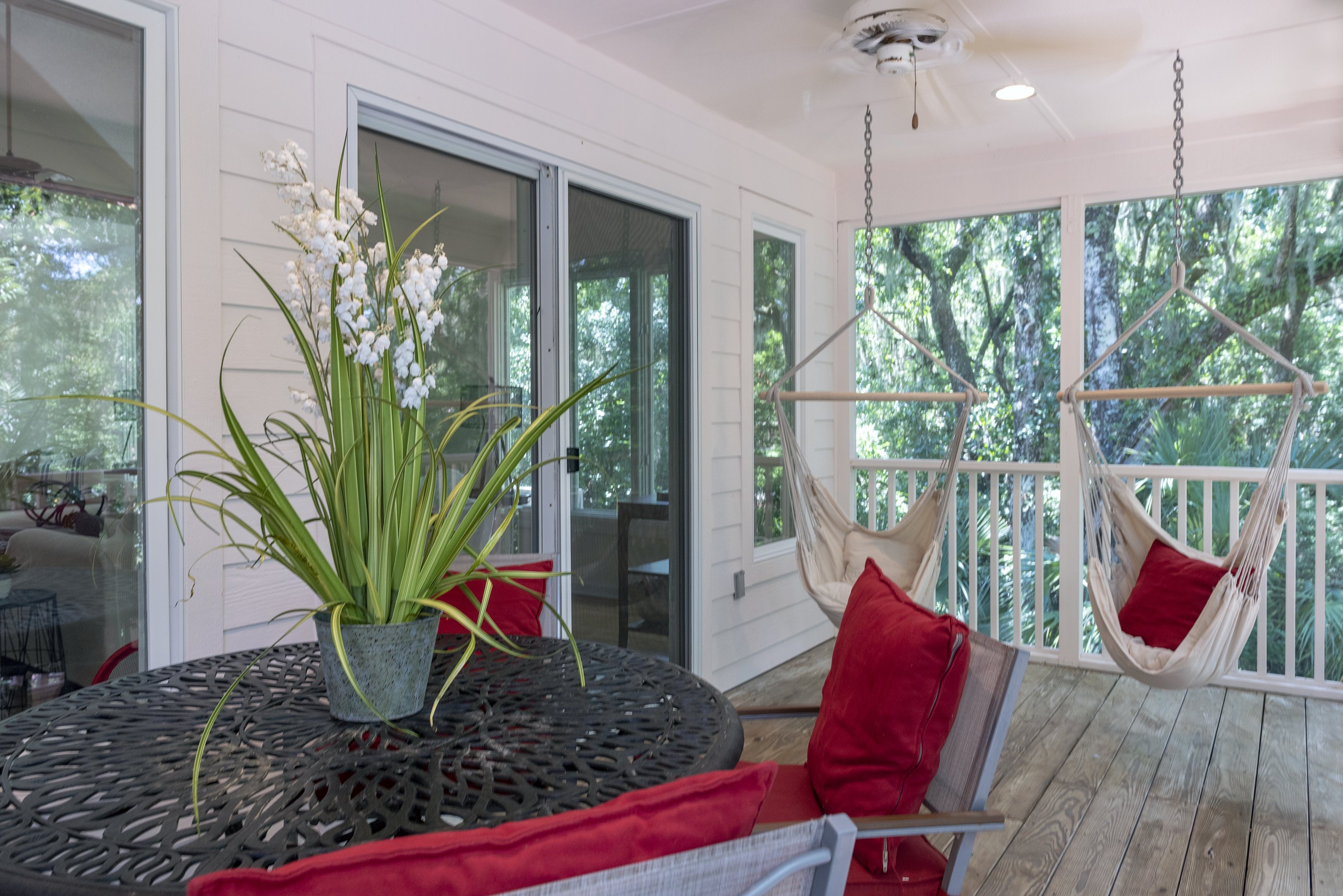 Fantastic screen porch with golf course views