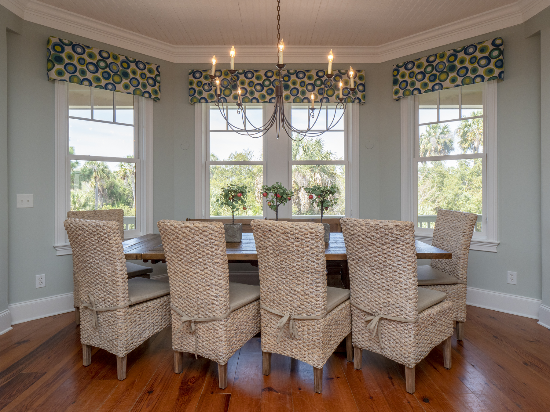 Beautiful views from dining area.