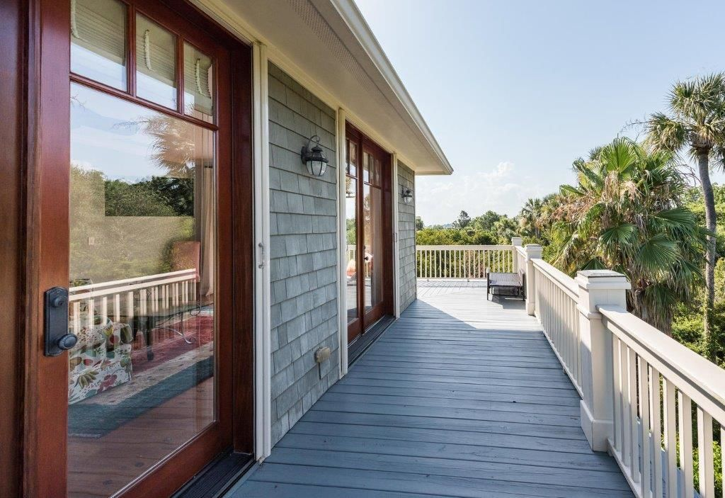 The wrap around deck on the second level provides panoramic views.