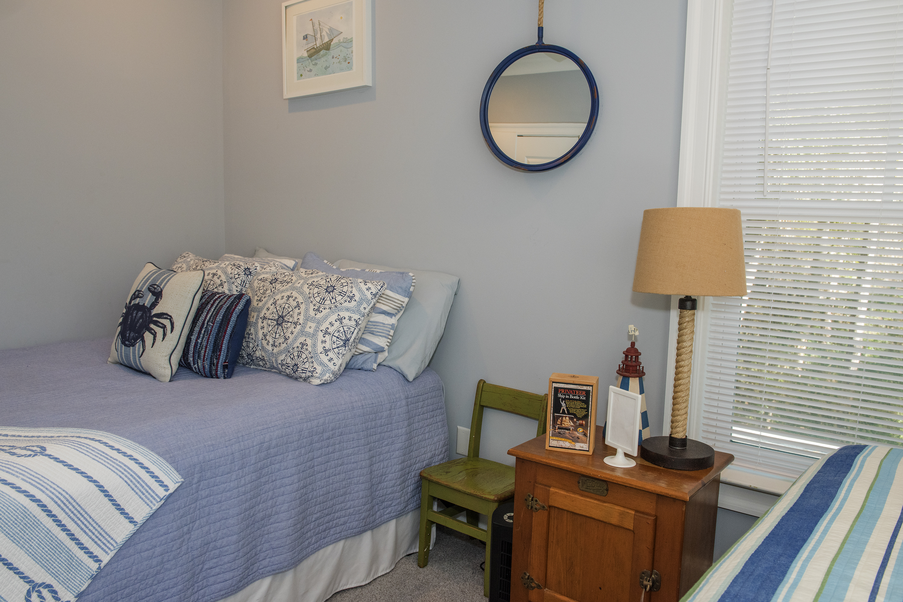 This room is great for families with its queen bed and two twin beds.