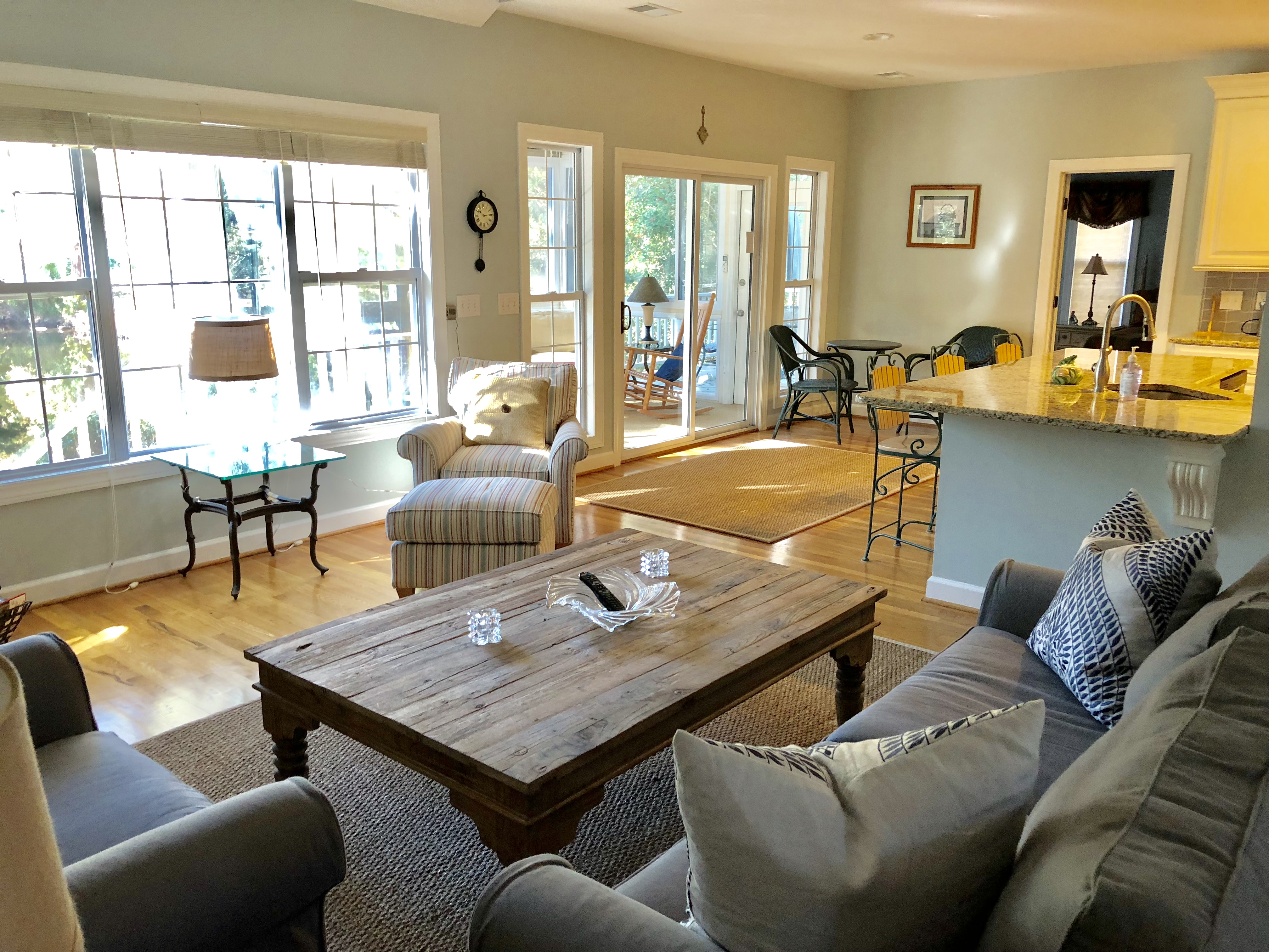 The living area is to the dining room and remodeled kitchen.