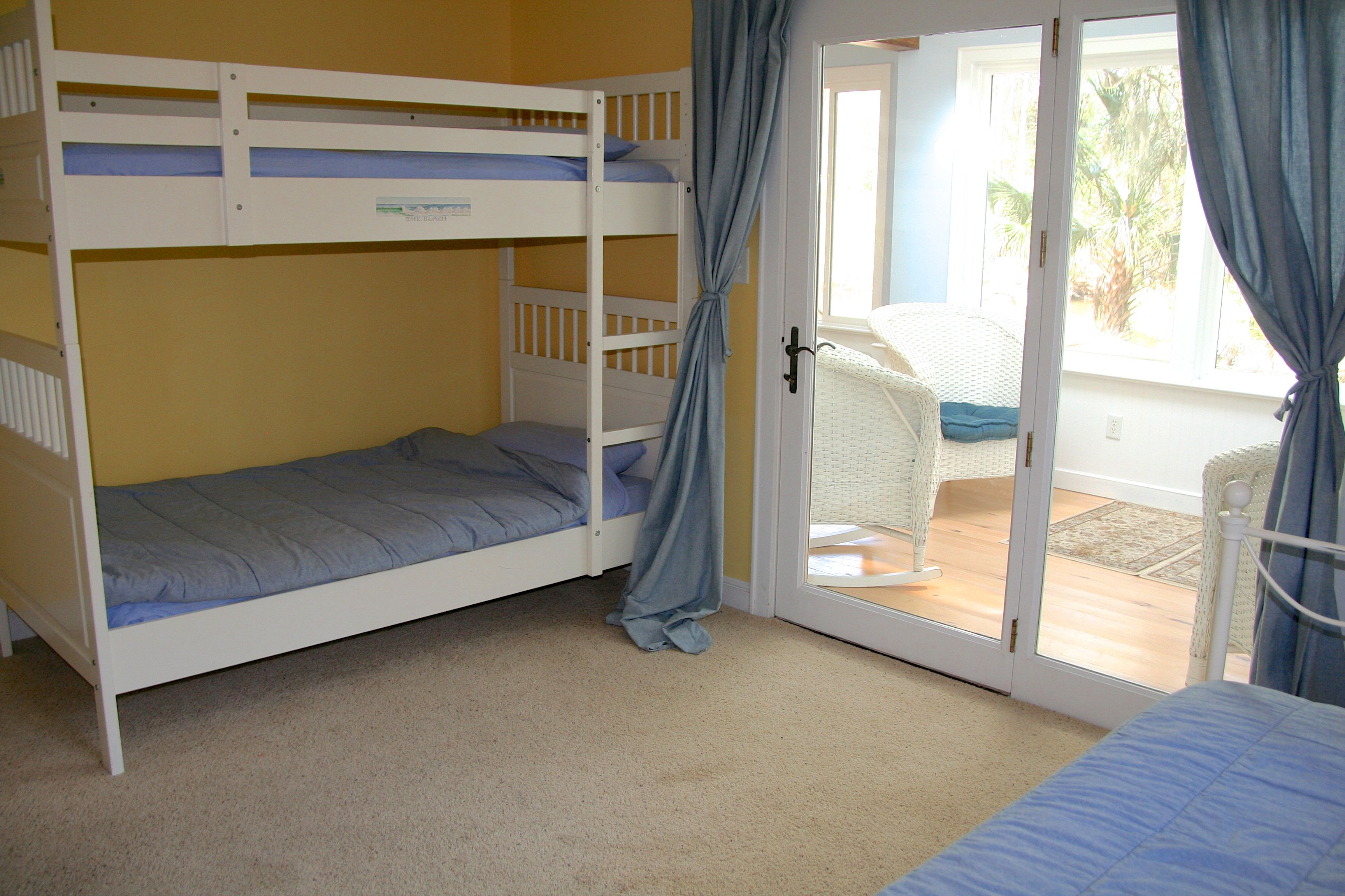 There is also a set of twin bunk beds. This room sleeps 3.