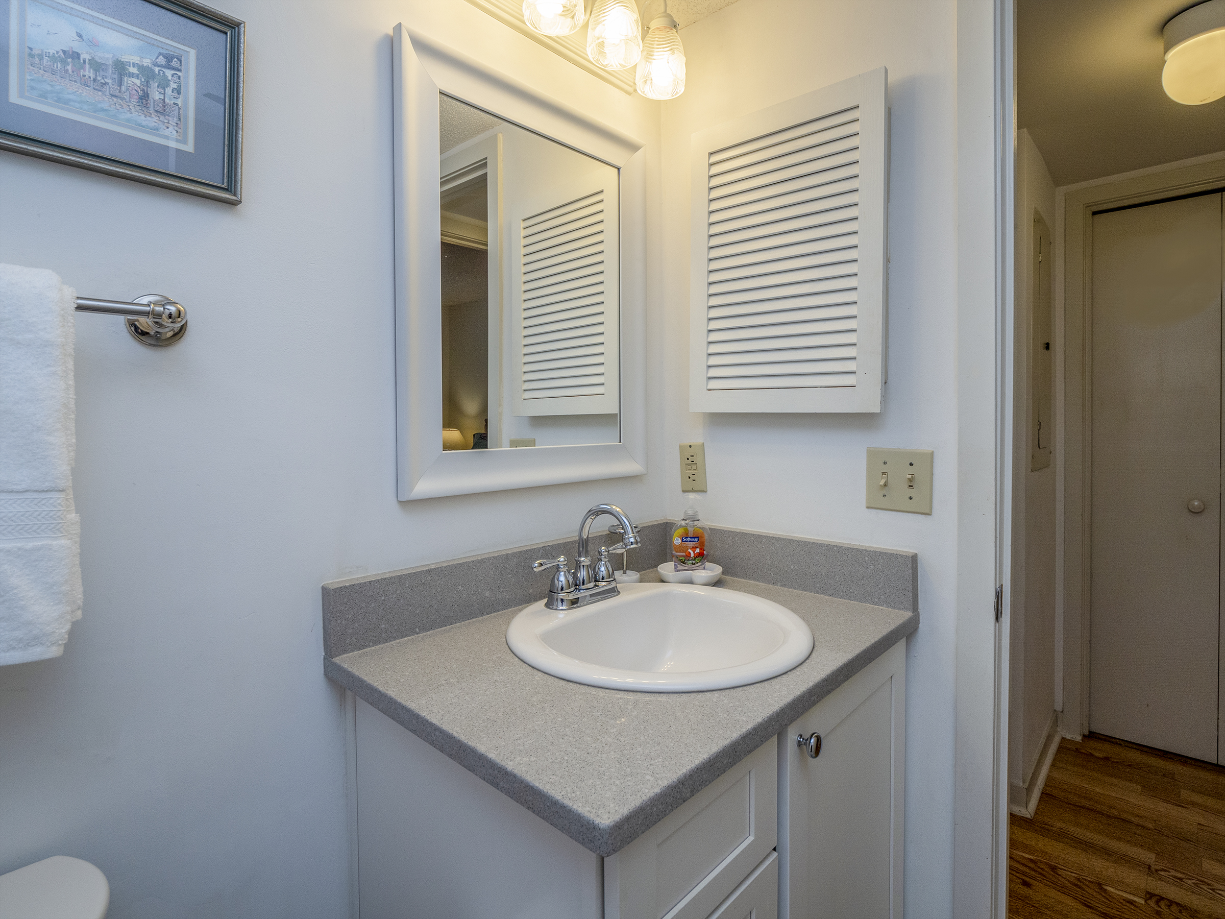 Updated hall access vanity