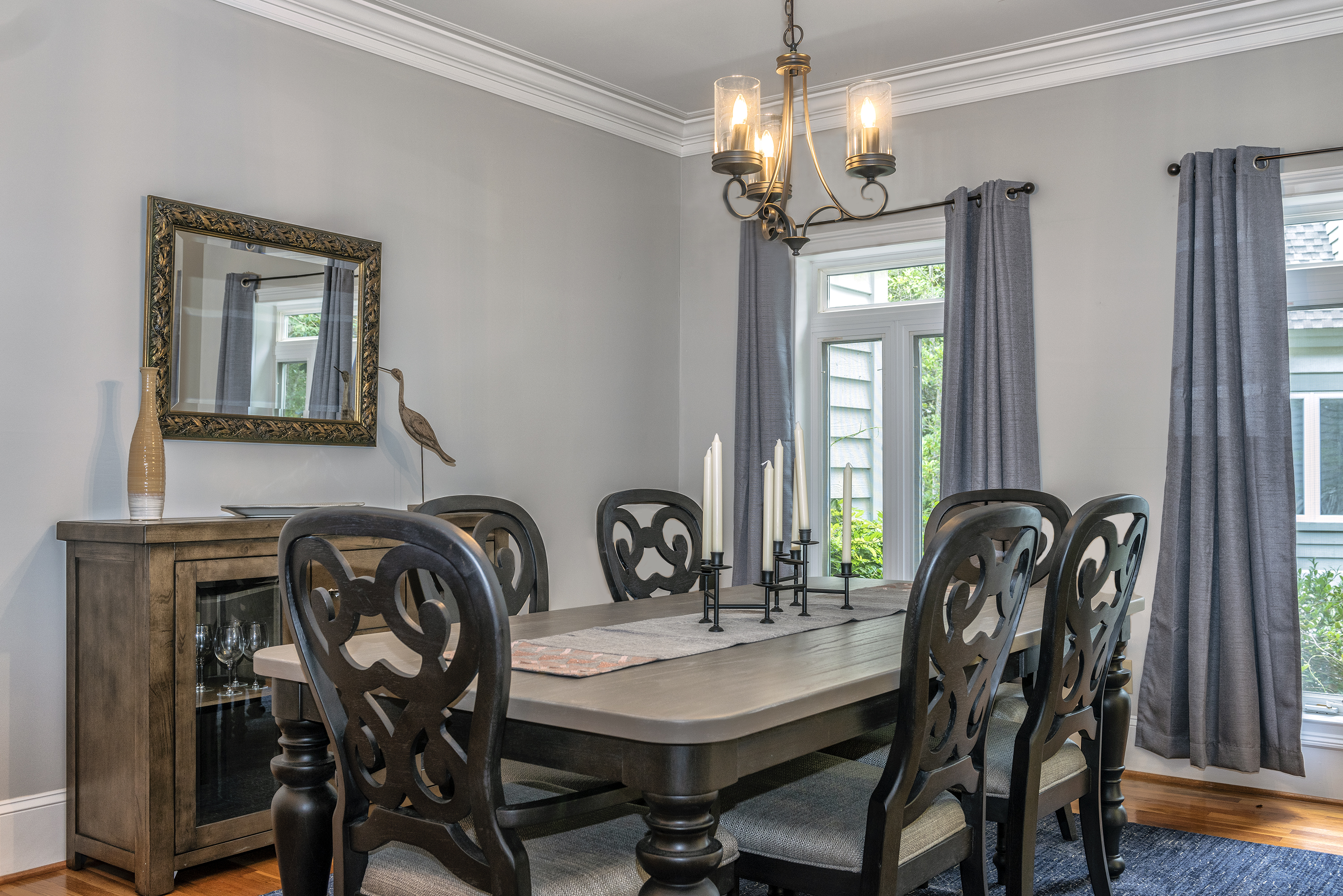 The dining table is a great spot for a wonderful dinner or Sunday breakfast.