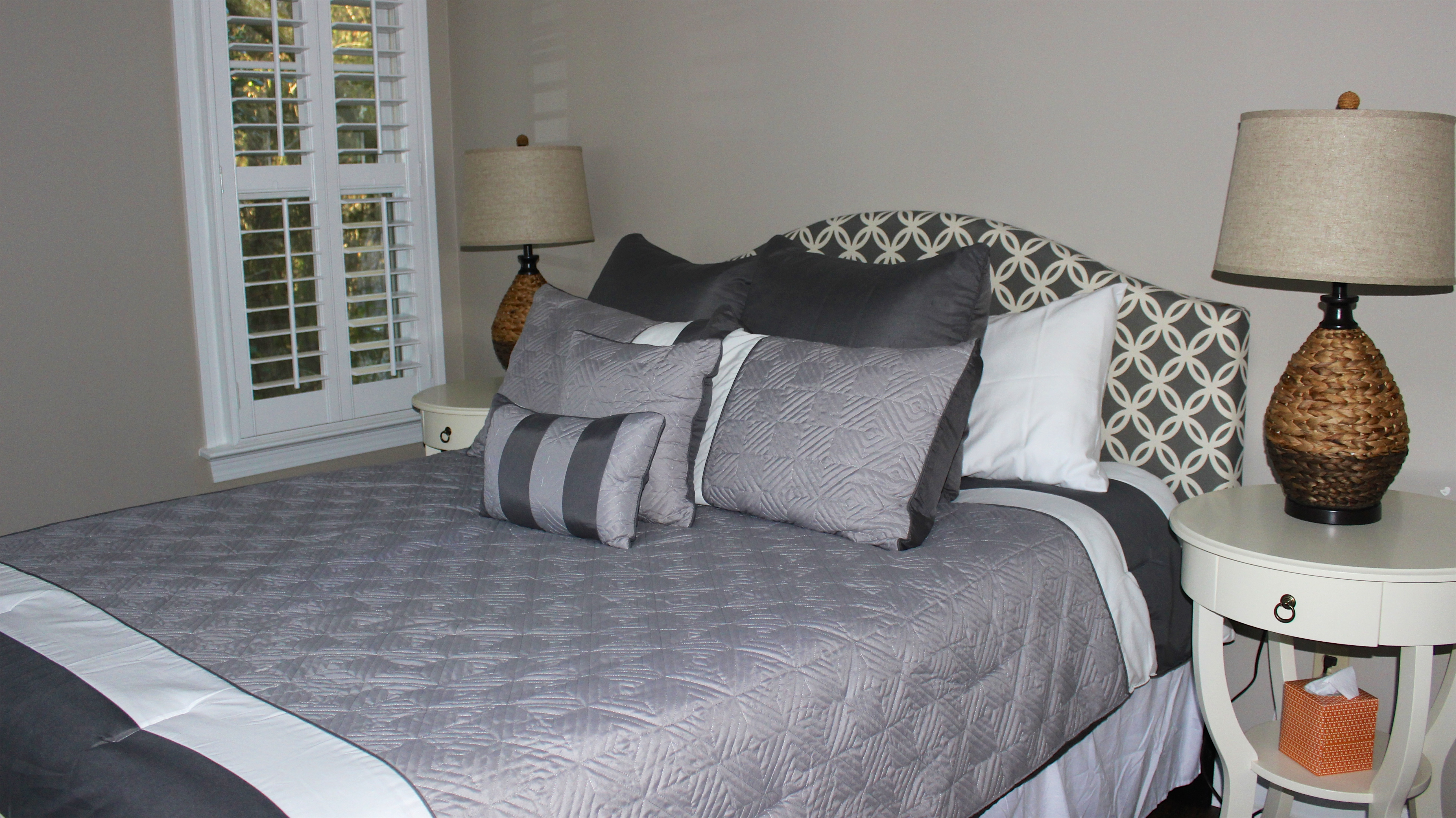 The 4th bedroom in this home has a queen bed.
