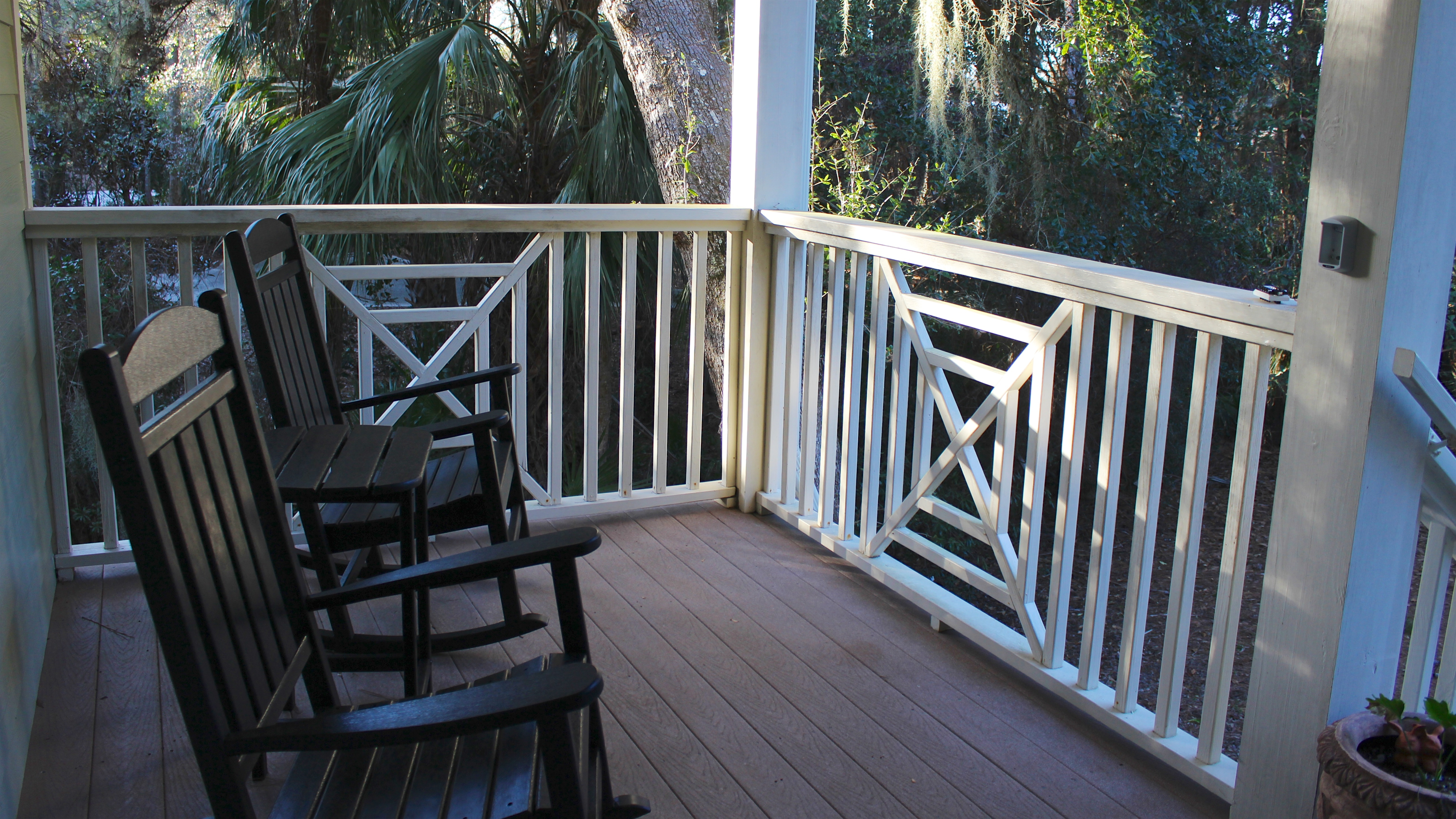 Enjoy your morning coffee while rocking on the front porch.