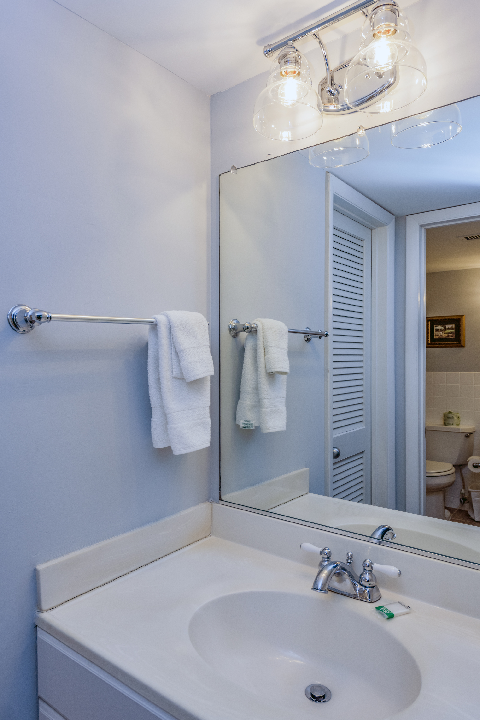 A second vanity/sink area and large closet are in this master en-suite.
