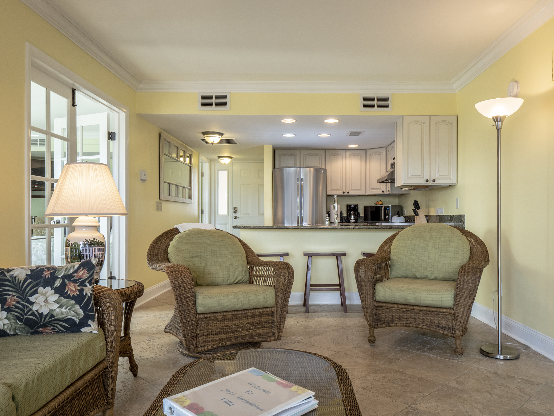 Living area is open to the kitchen.