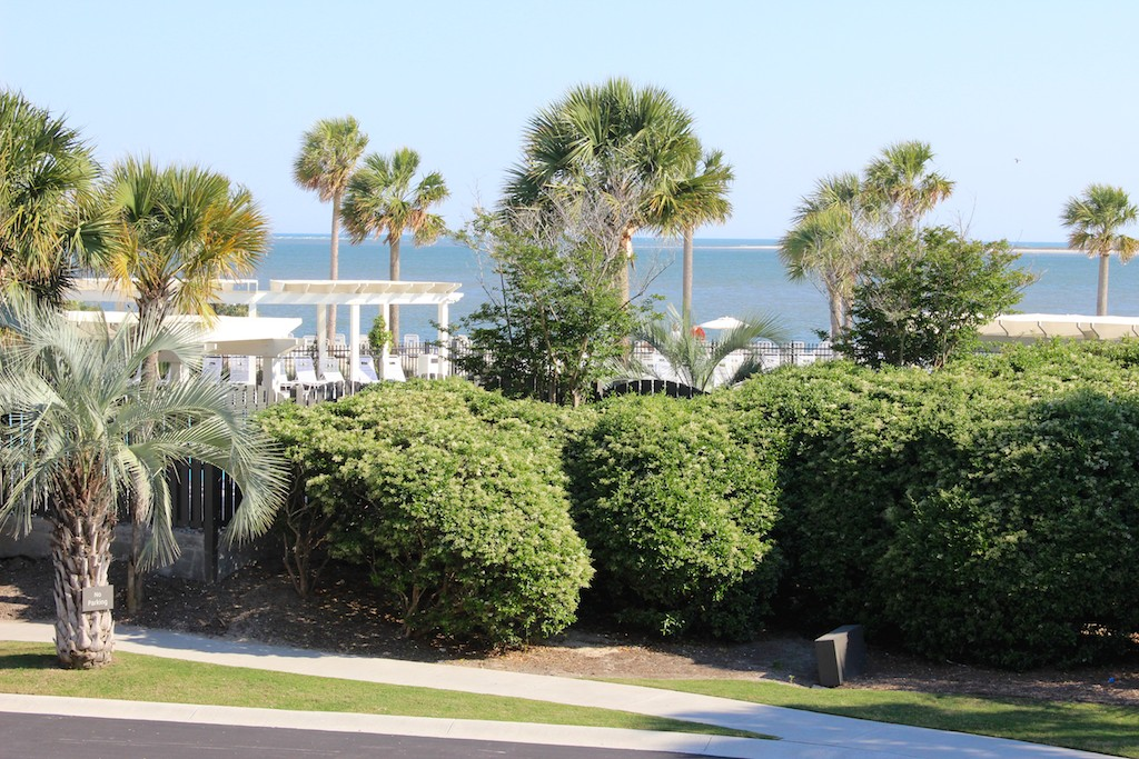 Enjoy panoramic views of the ocean that is across the street from the pools/beach.