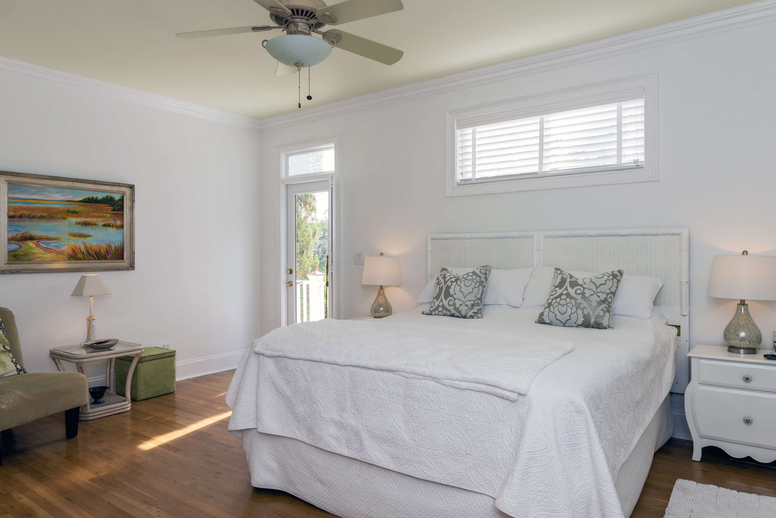 1st floor master bedroom with king bed