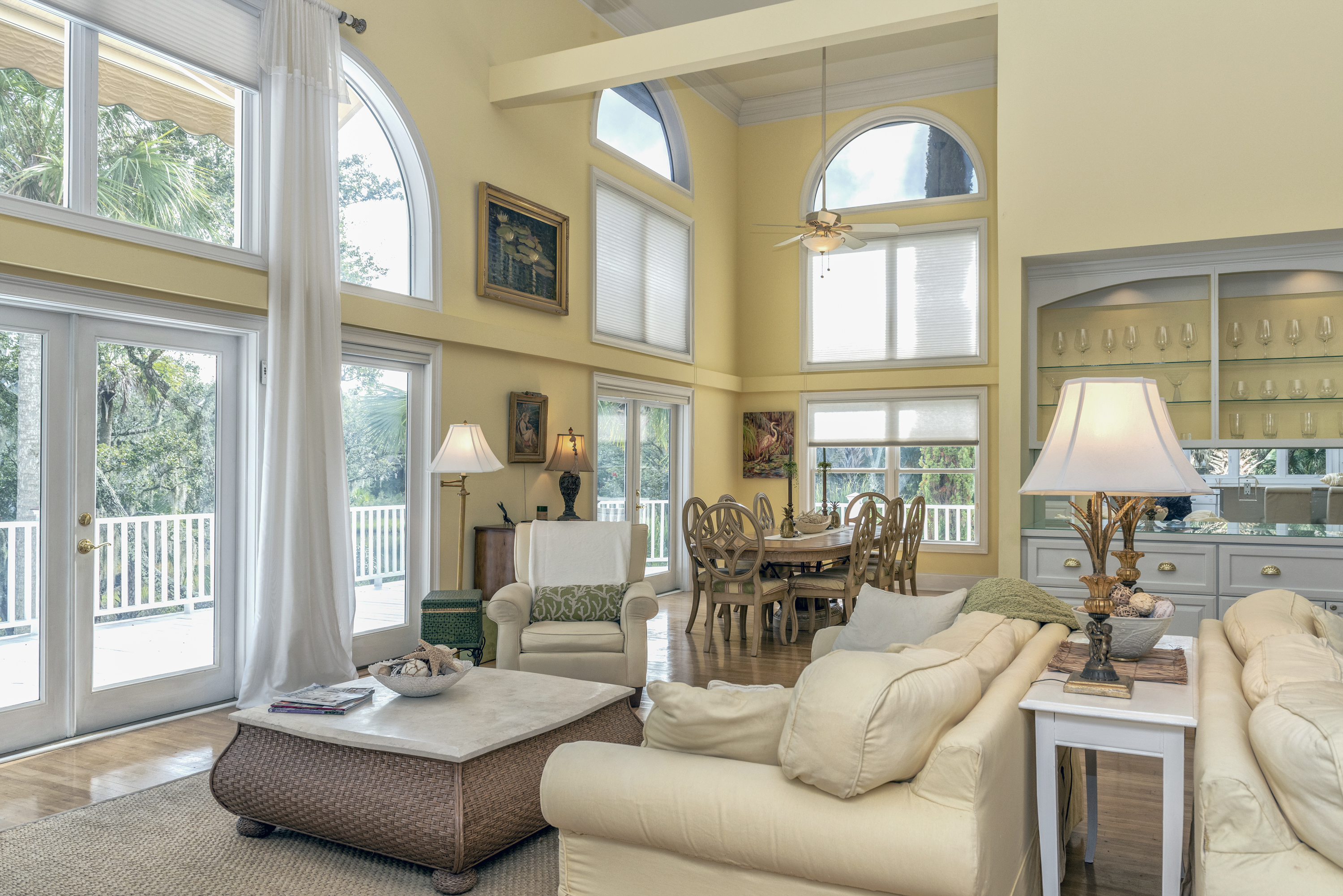 High ceilings and gorgeous views