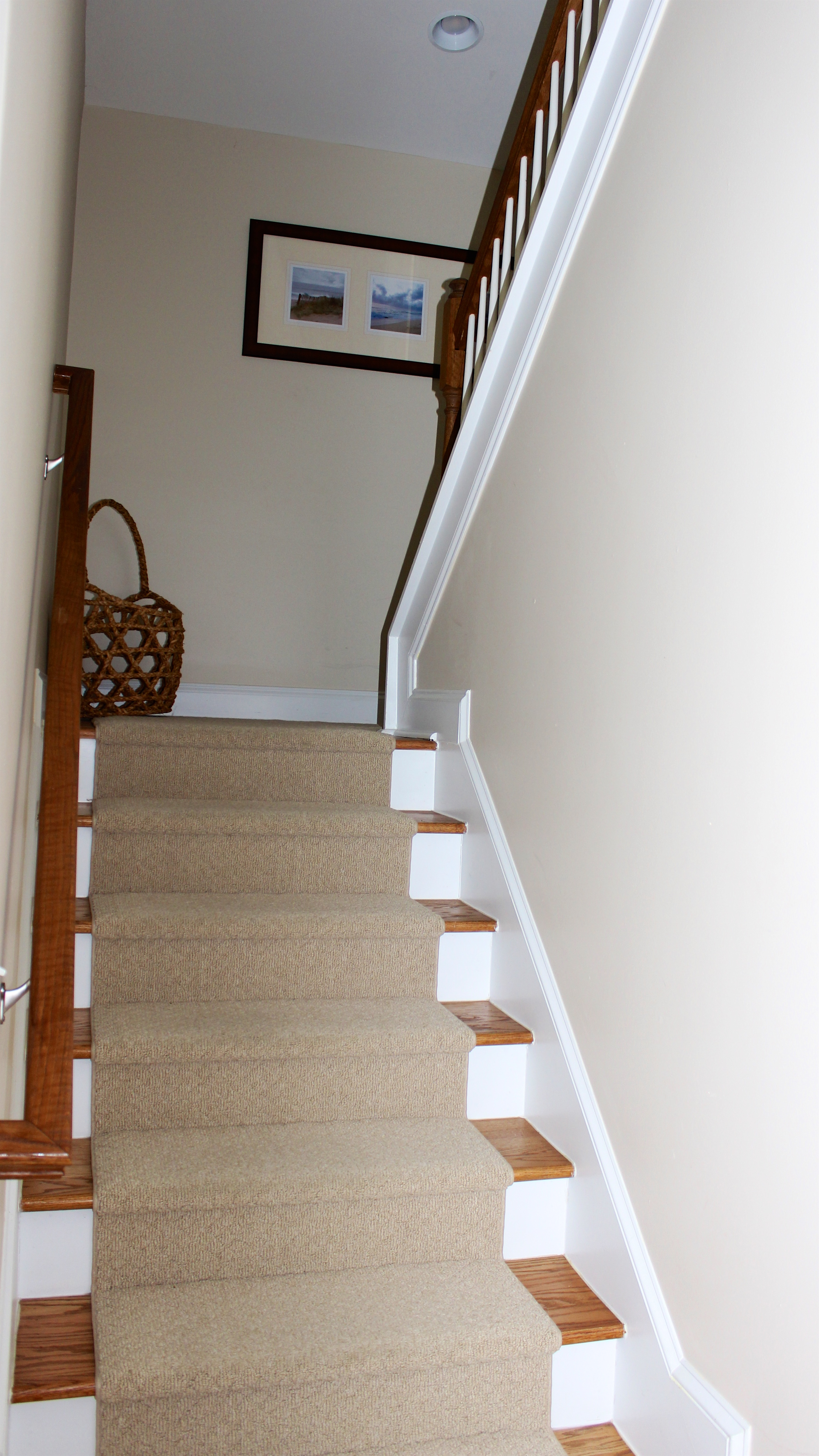 Head up the double stairway to the 2nd floor.