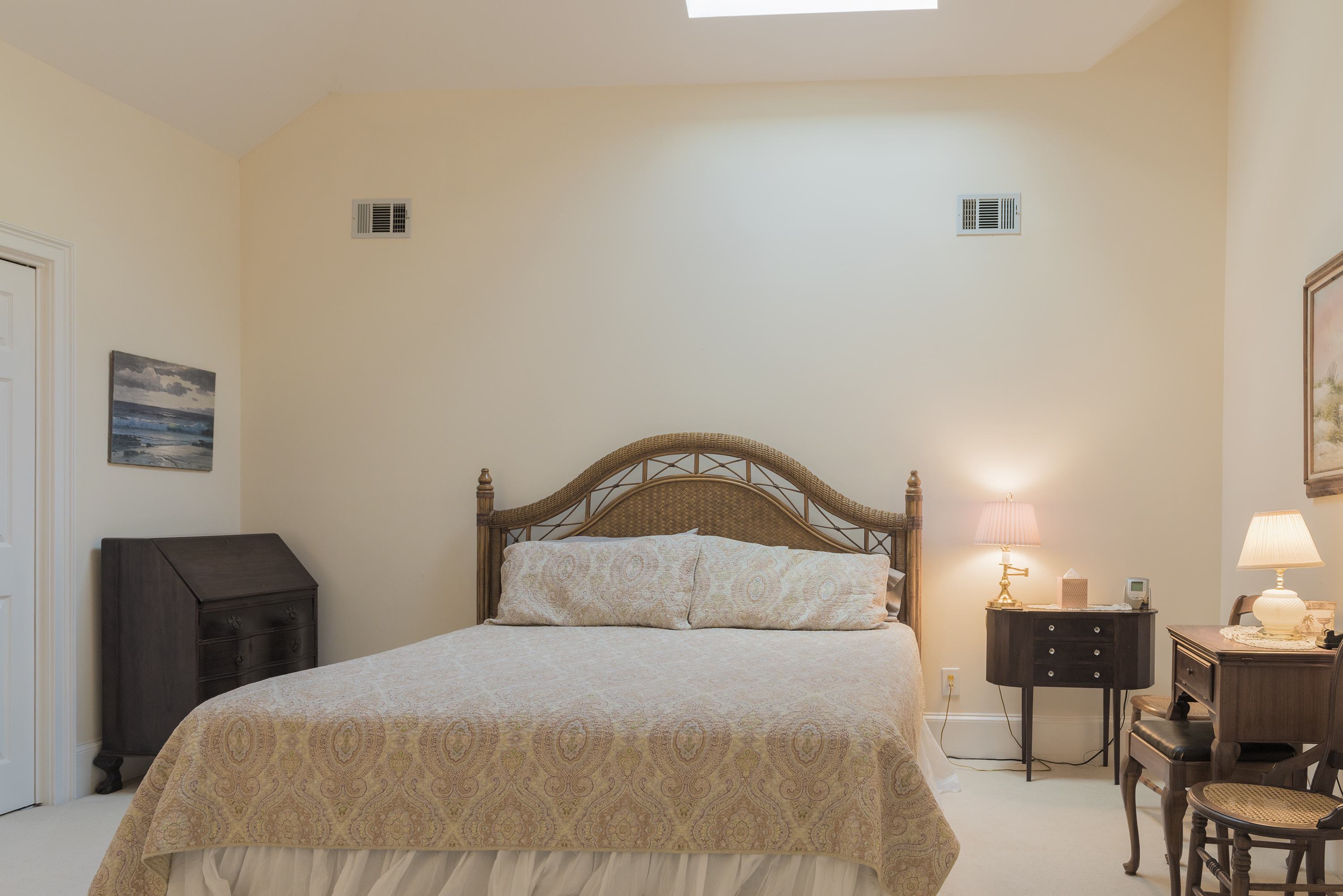 This large king guest bedroom is off the first landing.