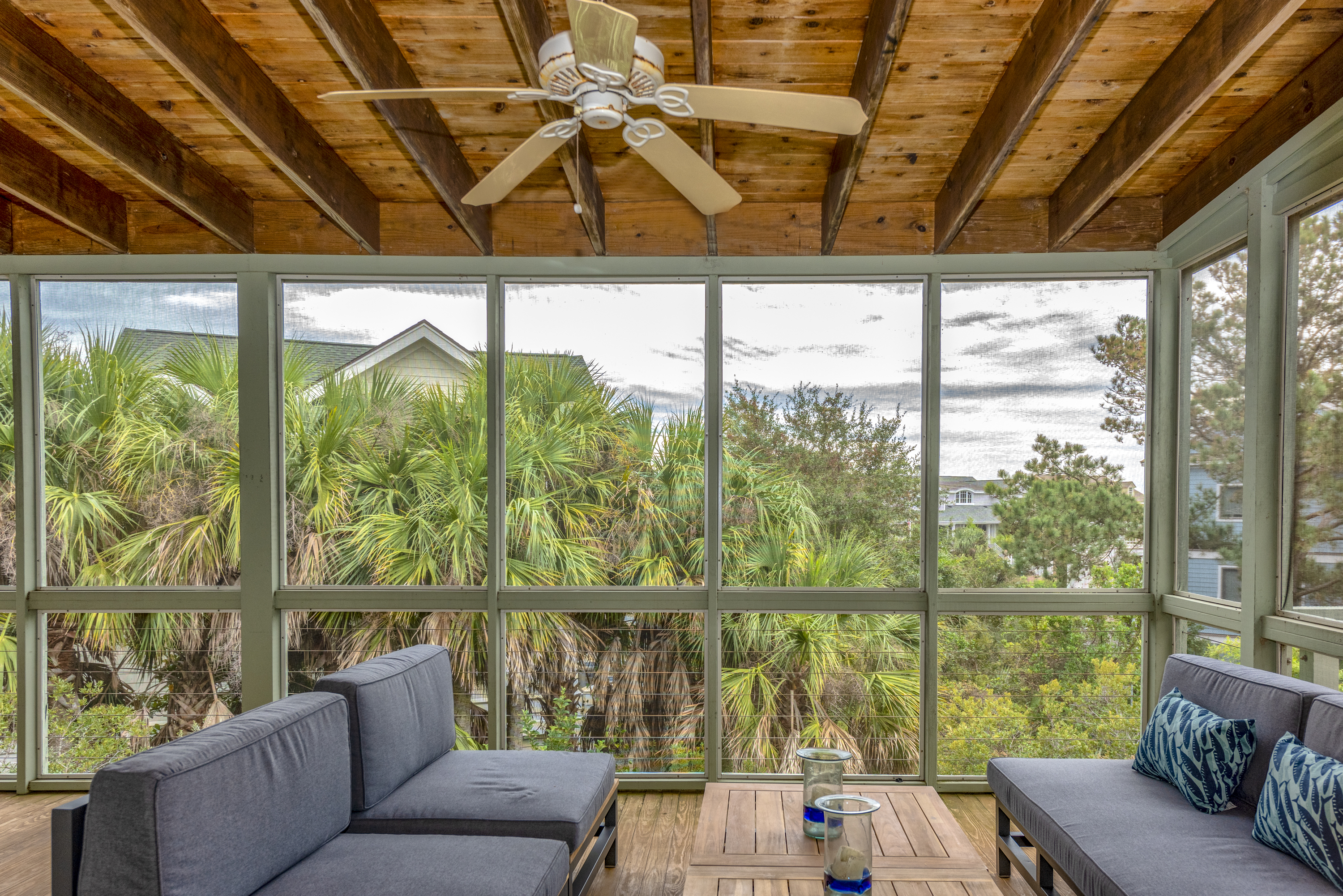 Amazing views from the large screened porch on the upper level