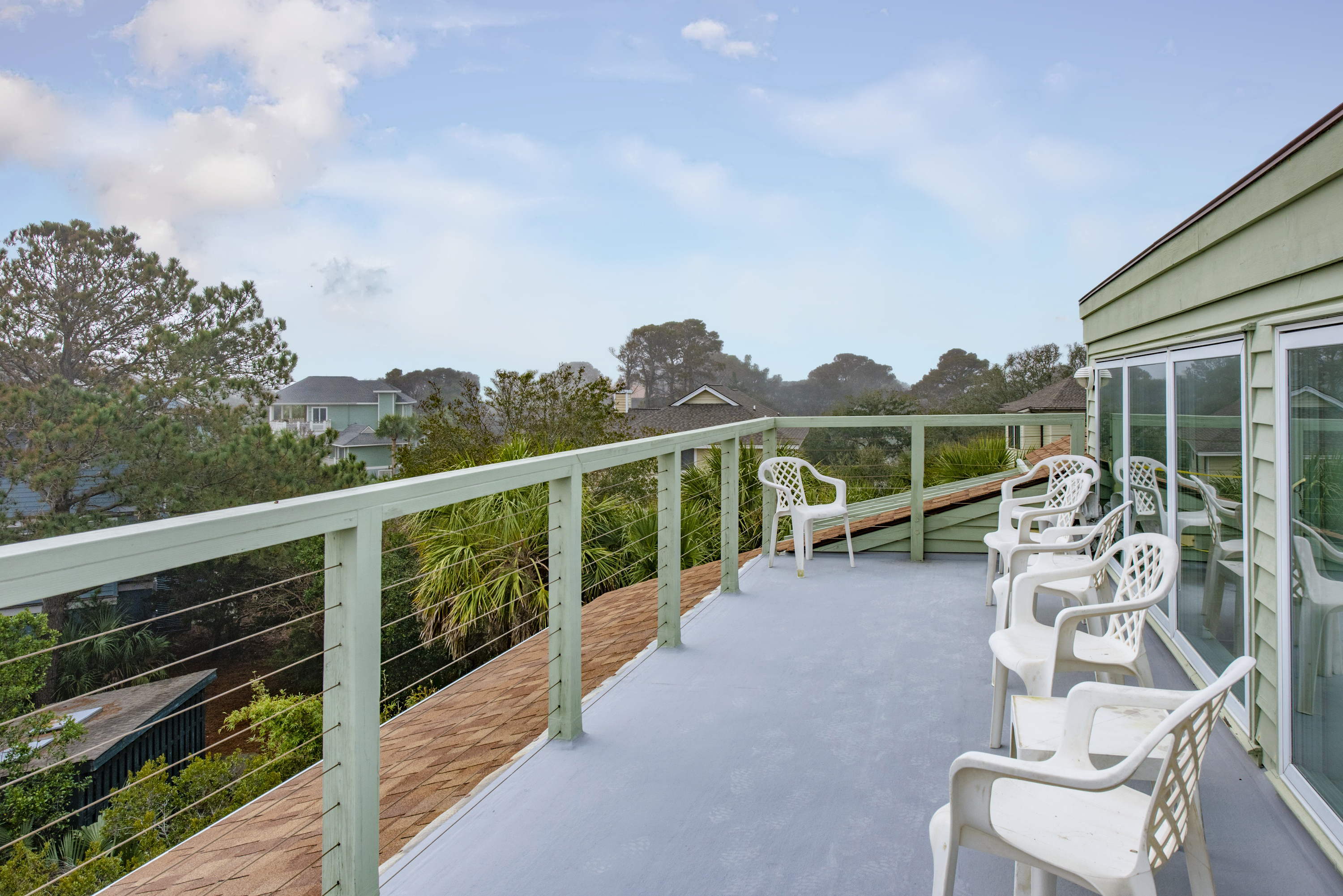 Enjoy the view from the roof deck