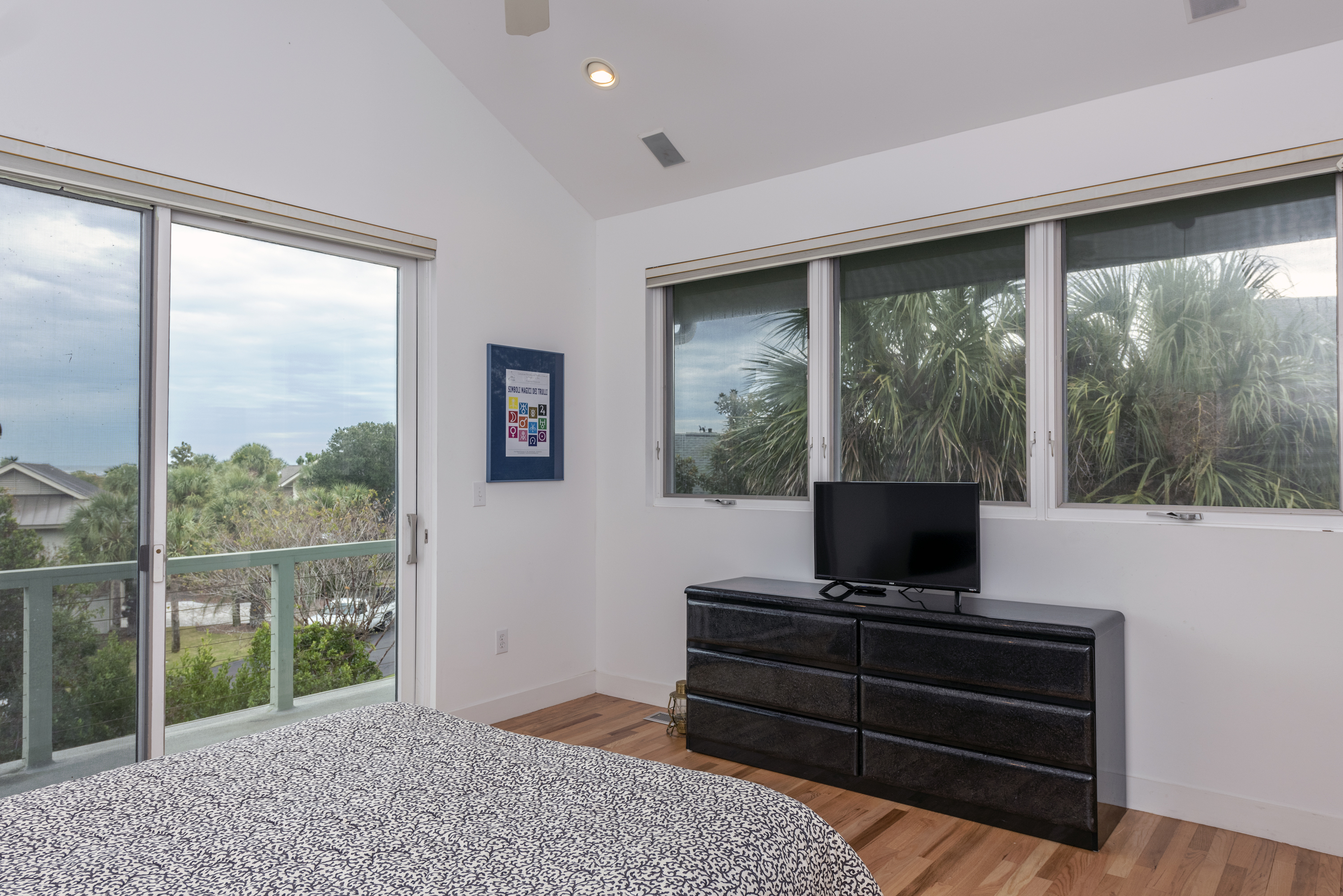 Master bedroom access to private deck with ocean views