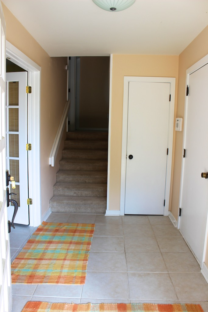 The ground level entry has a bedroom and laundry room off of it.