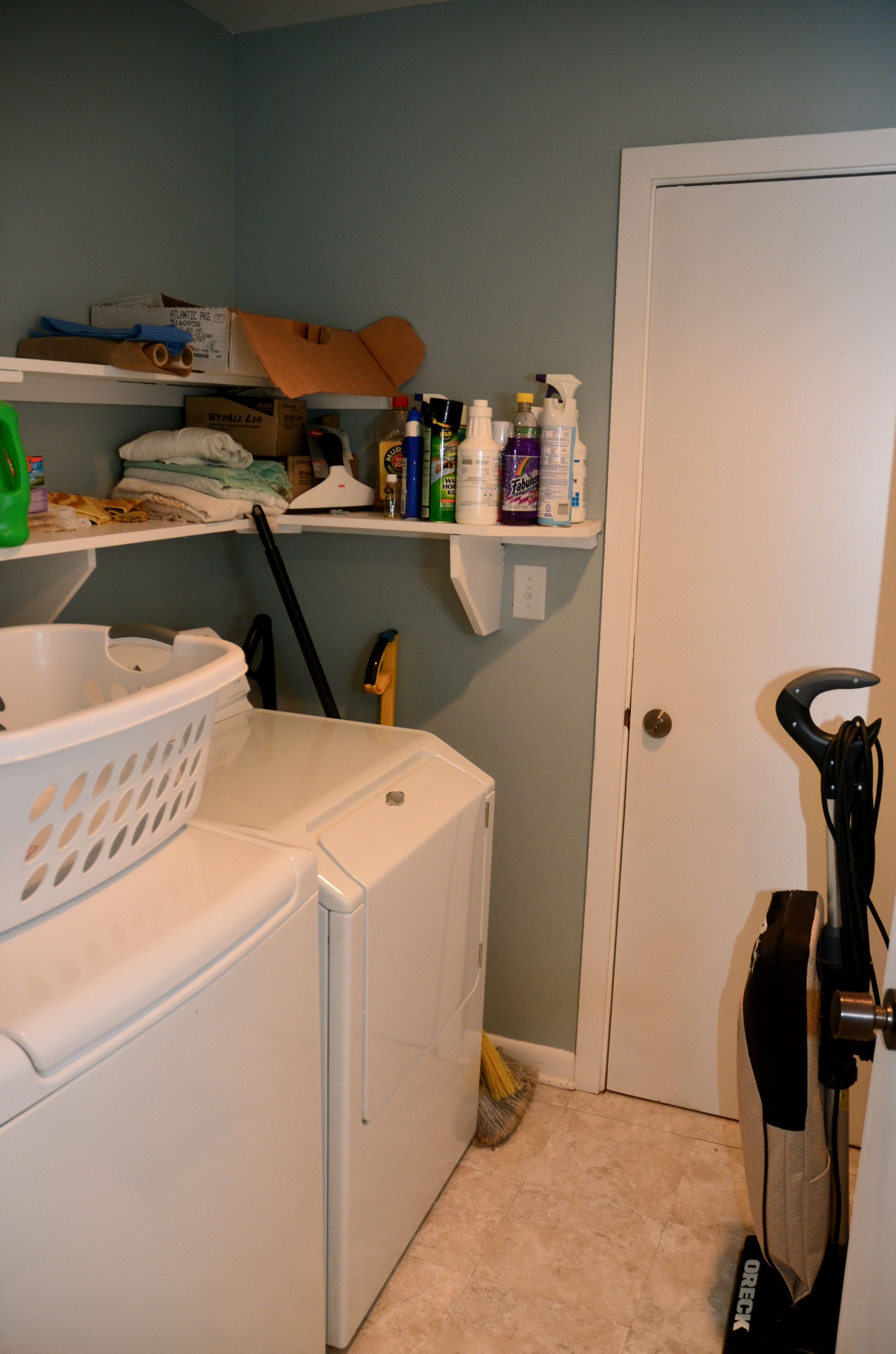 The lower level also has a laundry room with a full sized washer and dryer.