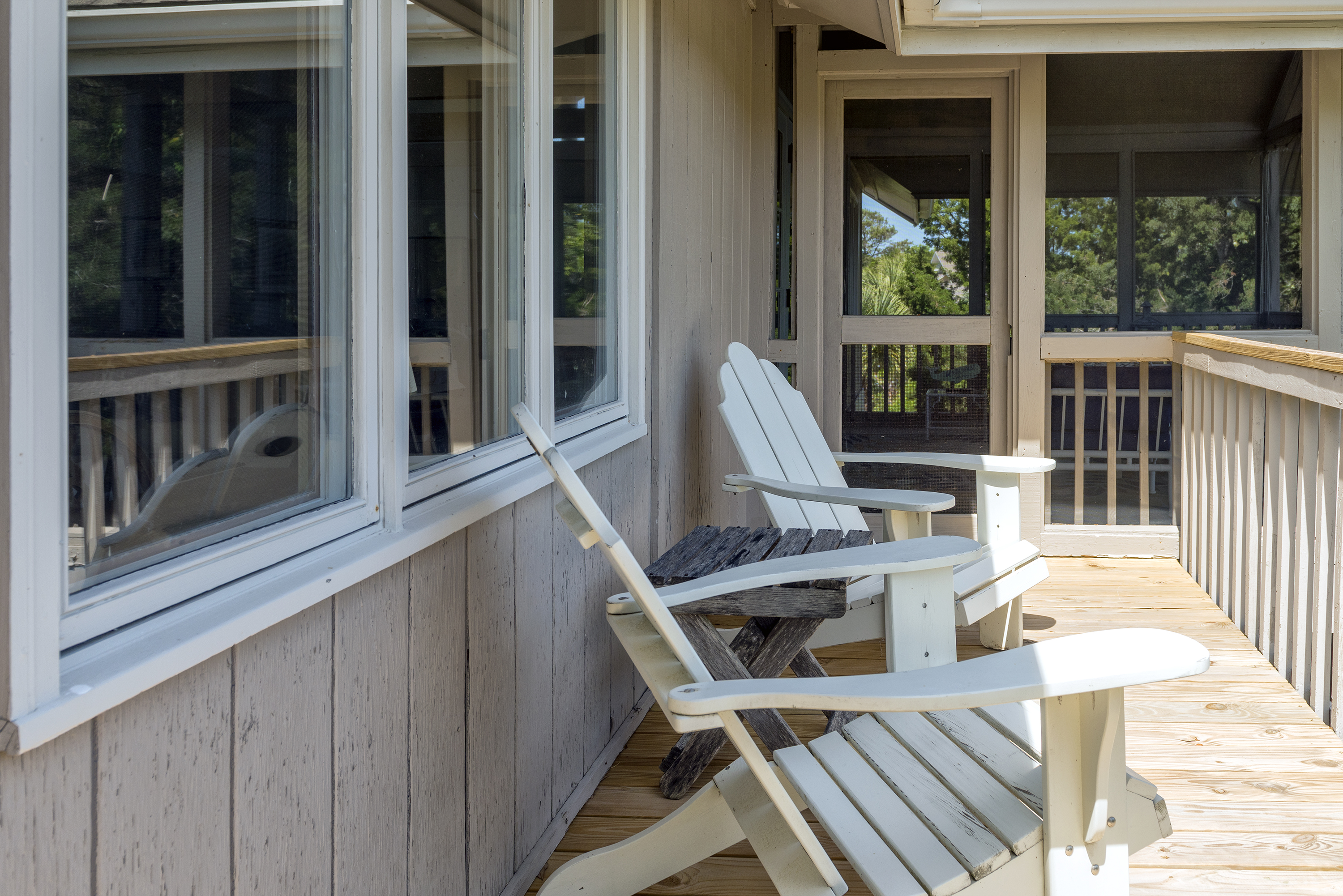 Deck off great room leads to the screened porch also.