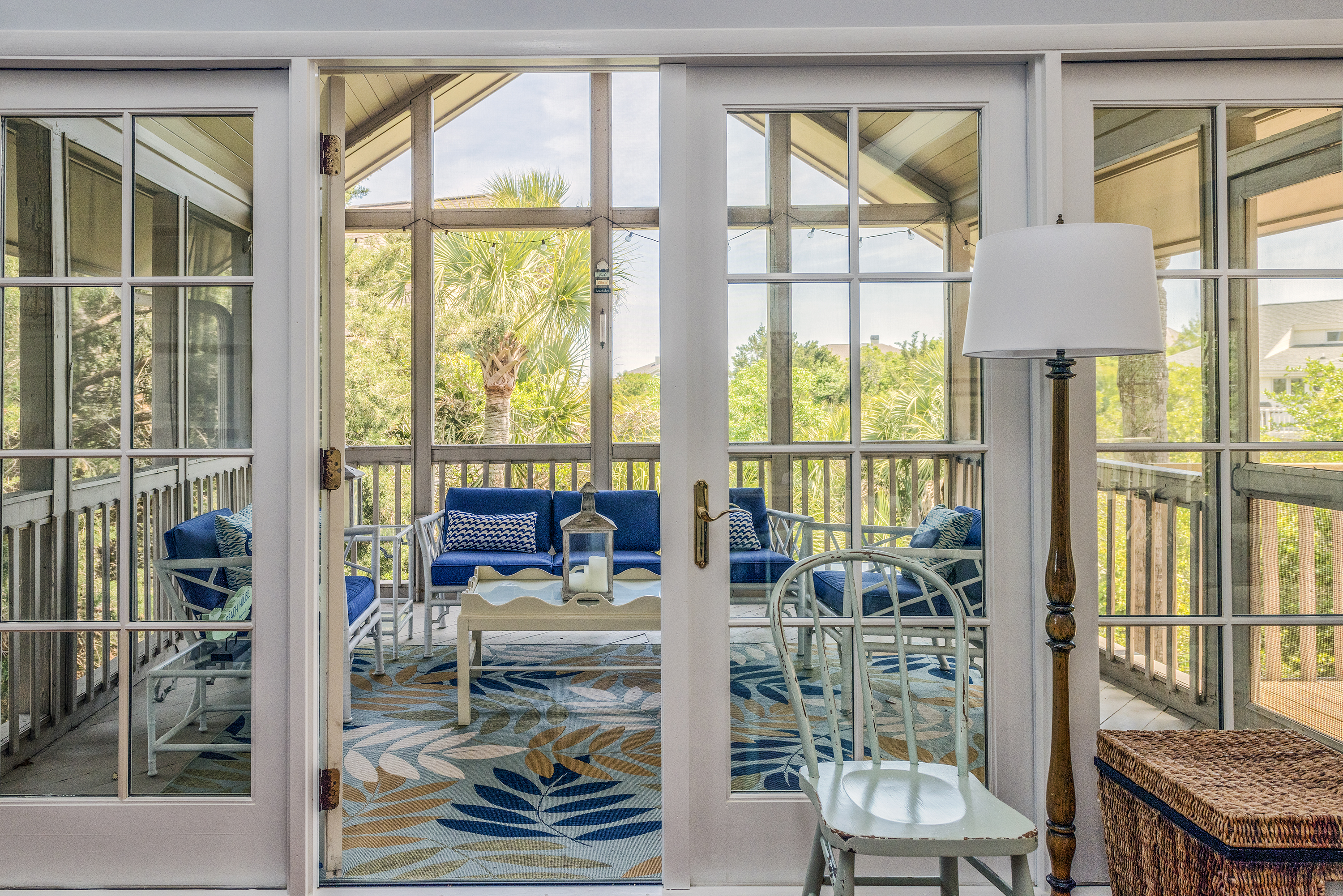 Off the living area is a fabulous screened porch, capturing distant ocean views and wonderful breezes.