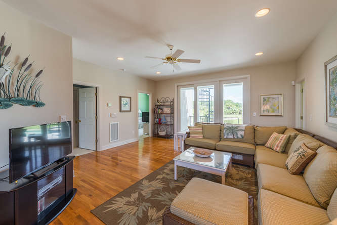 The 1st floor has a family room, 3 bedrooms, 3 baths, a laundry room & sweeping stairway.