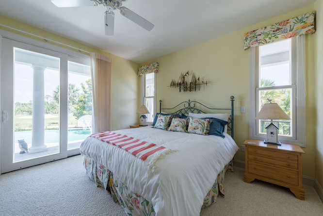The 2nd bedroom has a king bed, TV, and an adjoining bath.