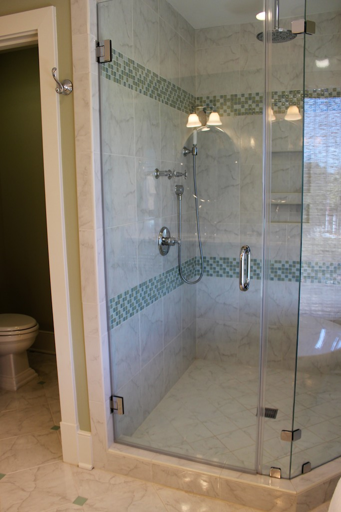Or linger under the rain shower head in the gorgeous shower.
