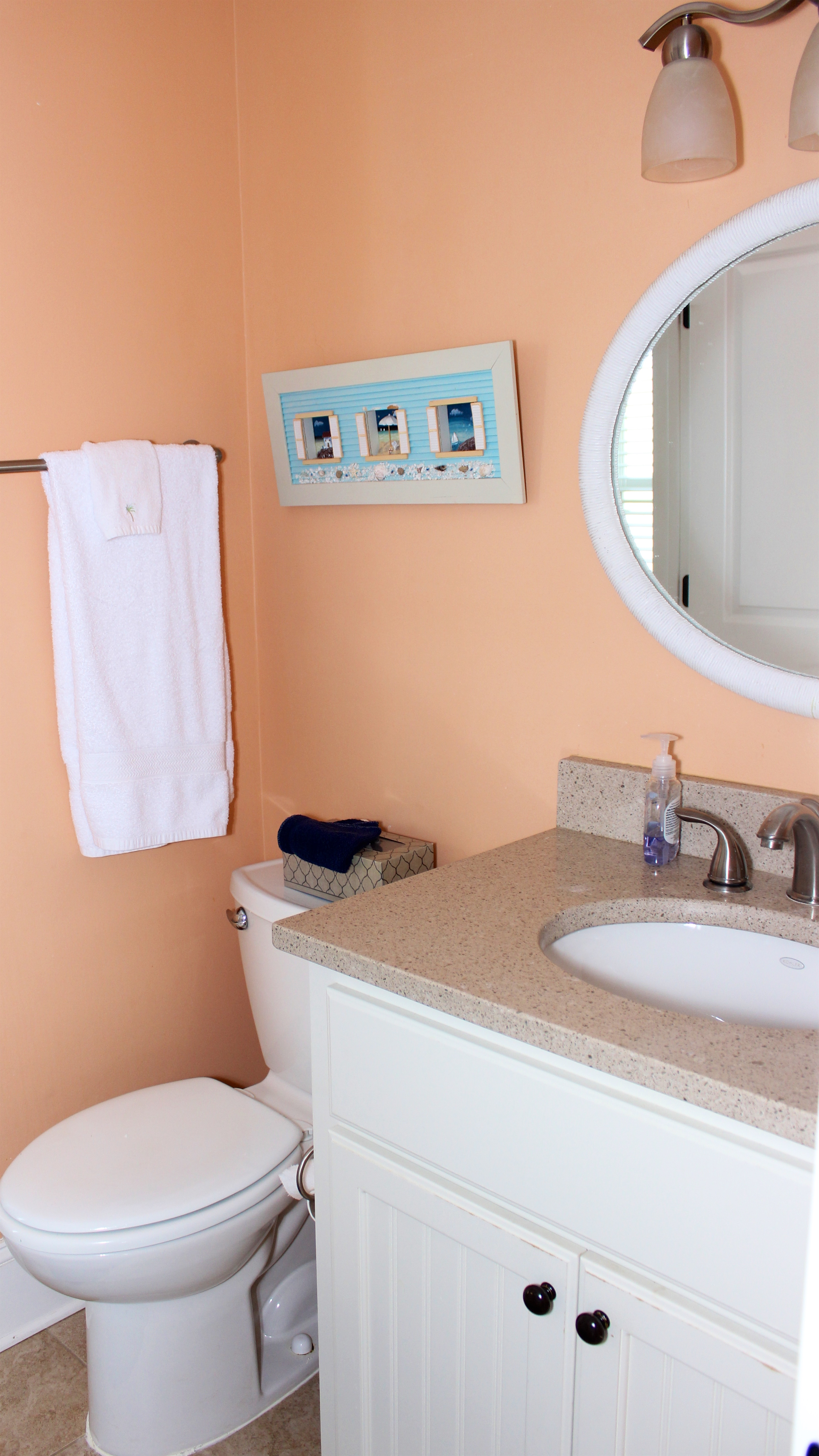 The Jack n Jill bath sits between the 3rd and 4th bedroom. It has a shower/tub.