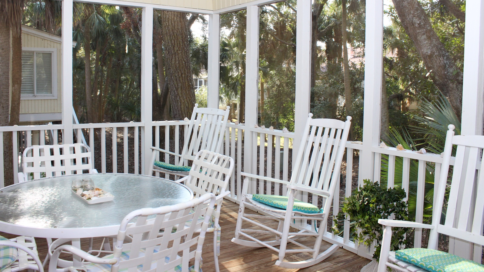 Rockers offer a soothing place to relax.