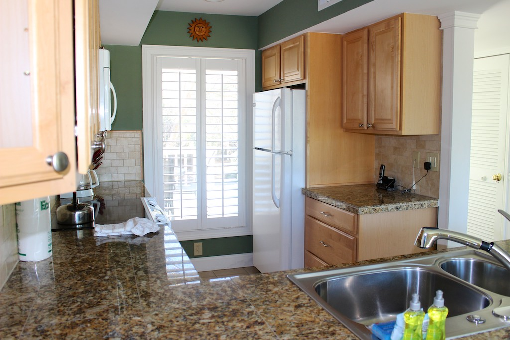 There is lots of counter and cabinet space too.