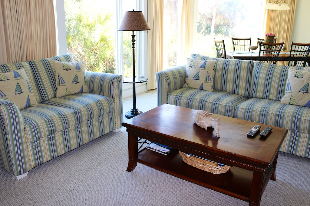 Relax with a good book or in conversation with your guests.