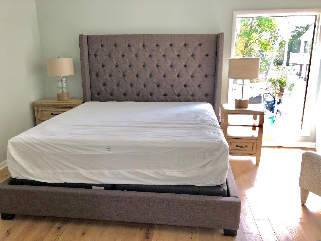 Downstairs master with new king bed!