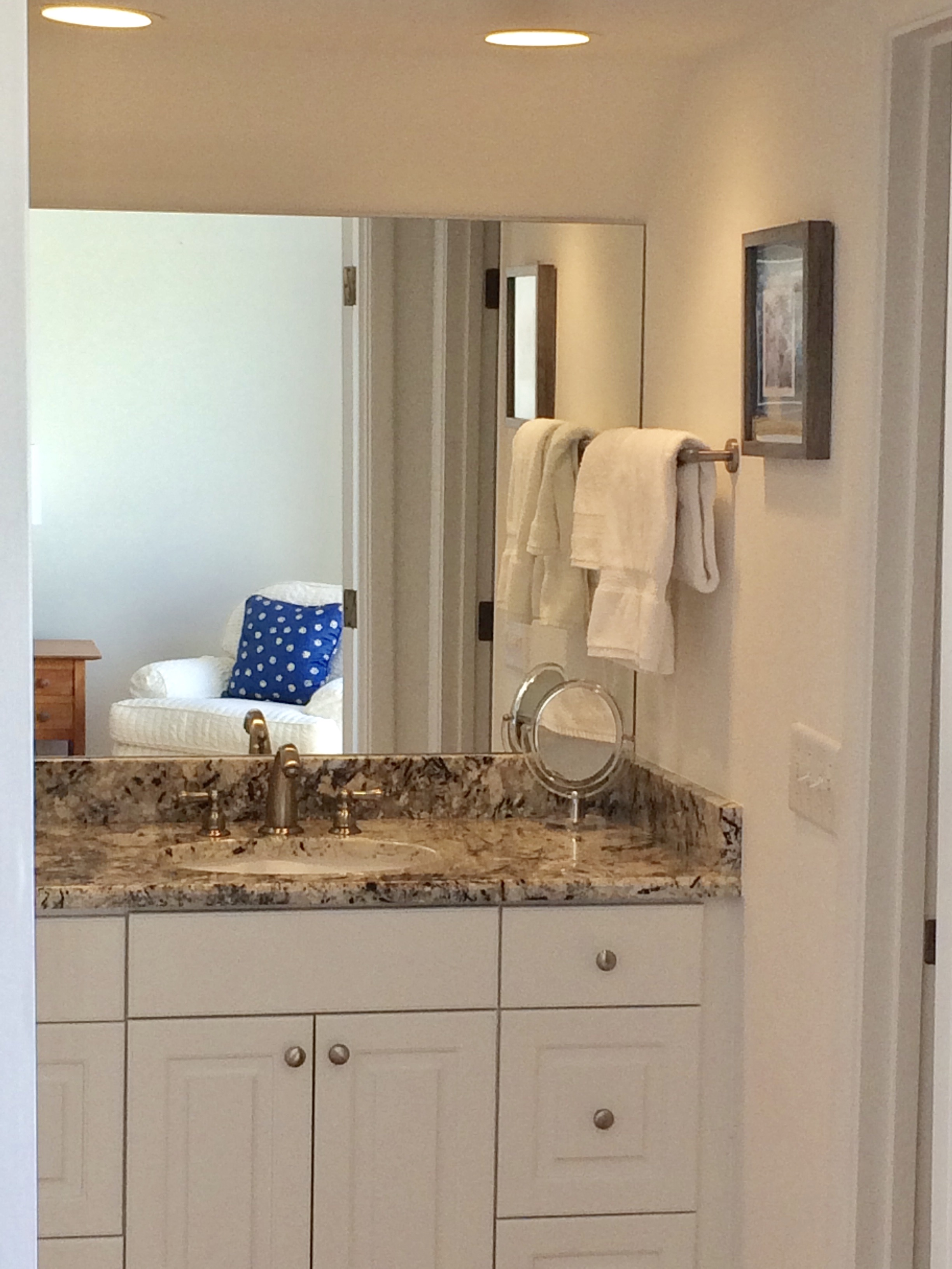 The separate sink area makes it easier for two to get ready for their activities.
